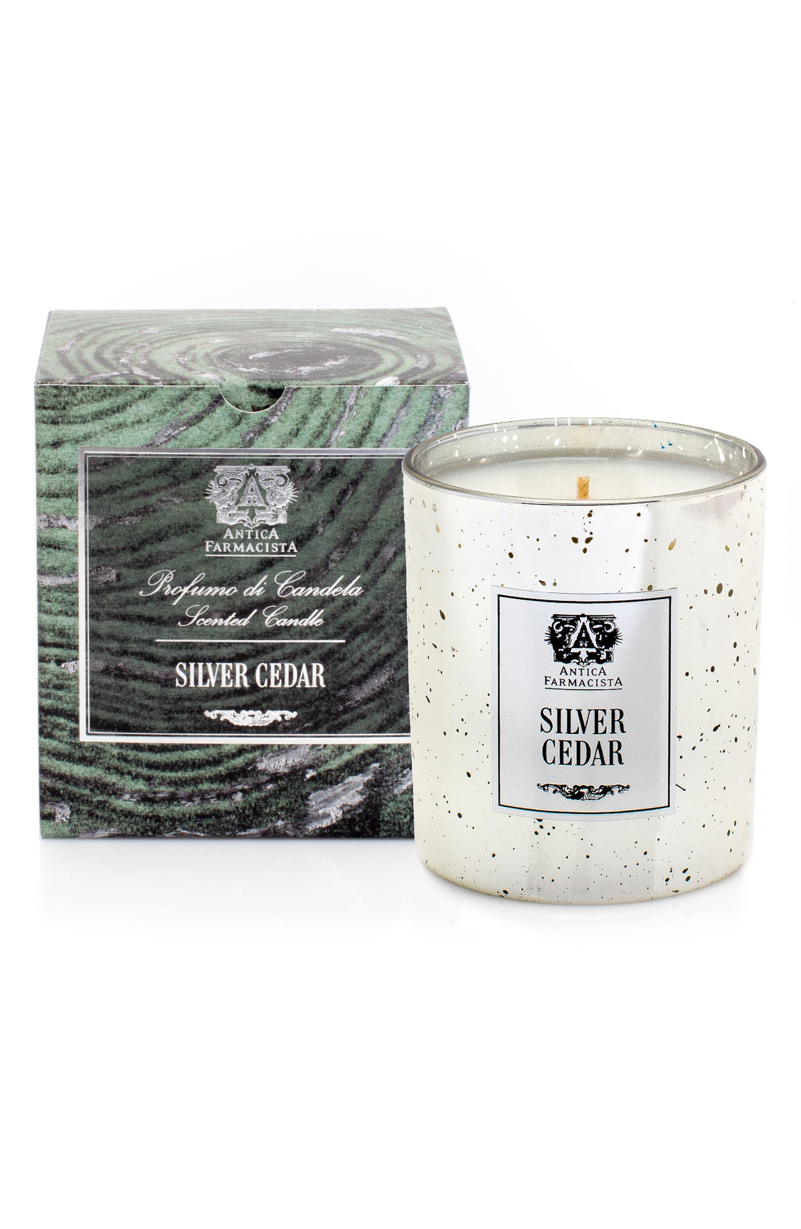 Silver Cedar Mercury Glass Candle,                             Alternate thumbnail 2, color,                             000