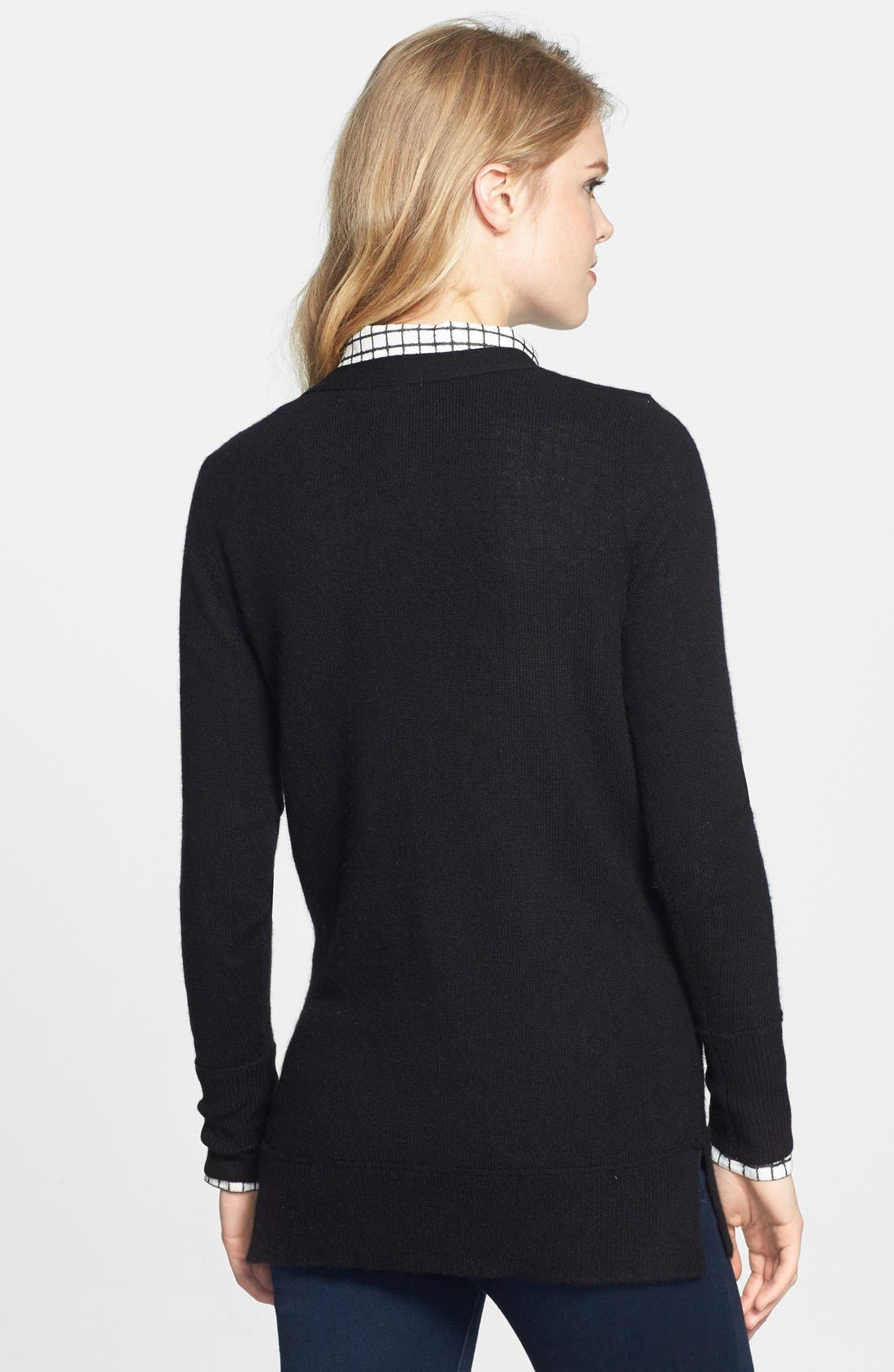 Wool & Cashmere Boyfriend Cardigan,                             Alternate thumbnail 2, color,                             001