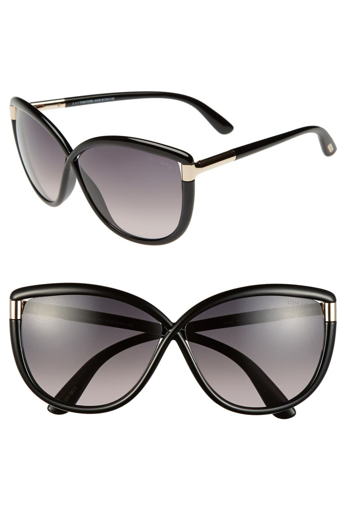 'Abbey' 63mm Oversized Sunglasses,                         Main,                         color, 018