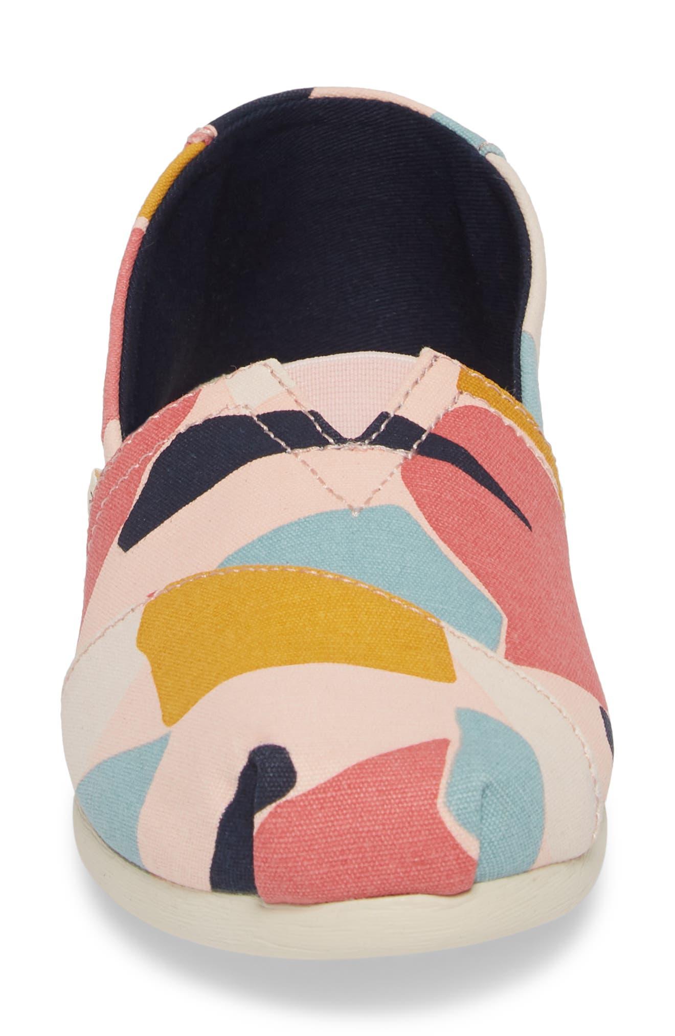 Alpargata Slip-On Sneaker,                             Alternate thumbnail 4, color,                             ROSE GLOW PRINT CANVAS
