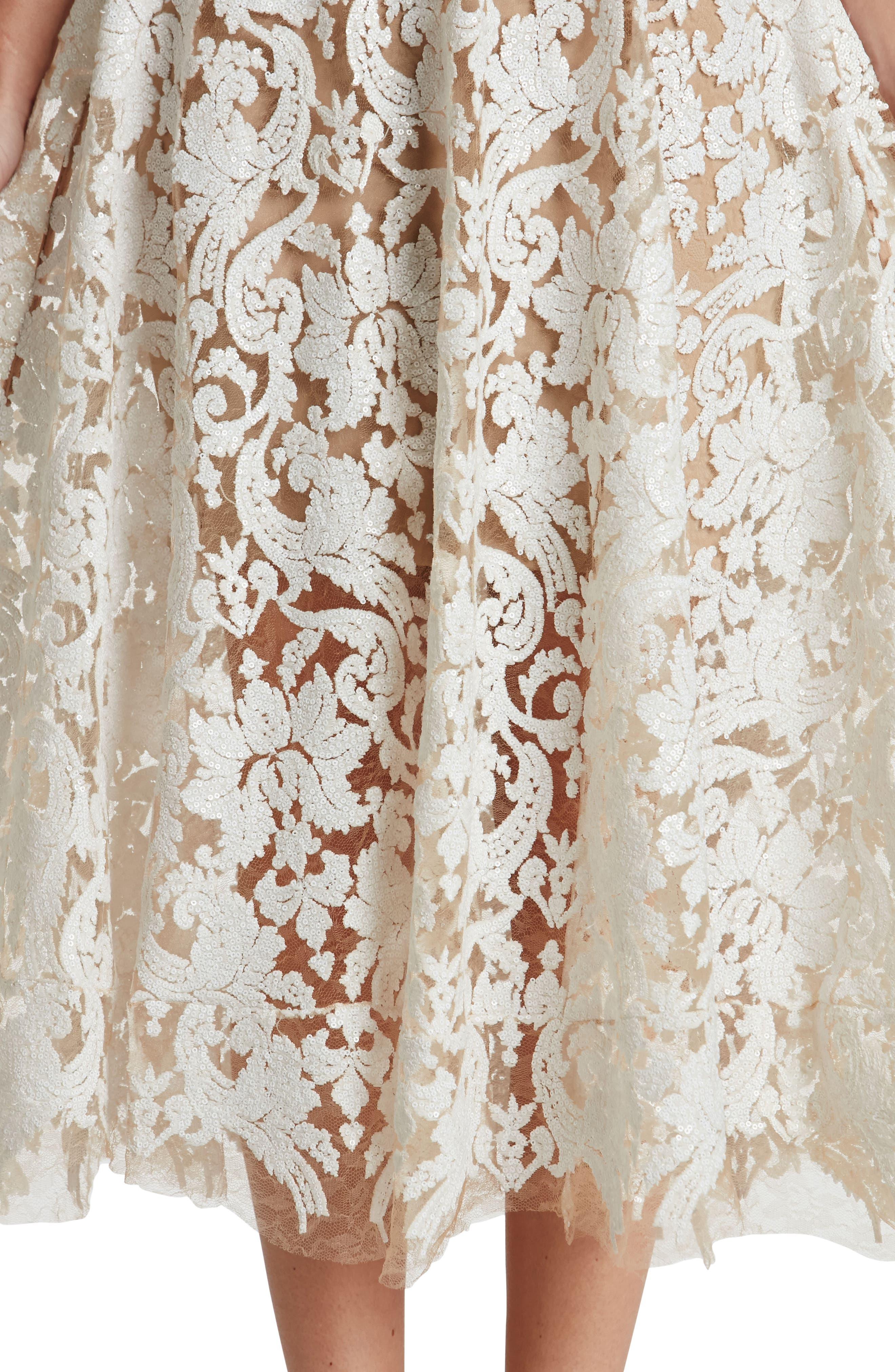 Blair Embellished Fit & Flare Dress,                             Alternate thumbnail 24, color,