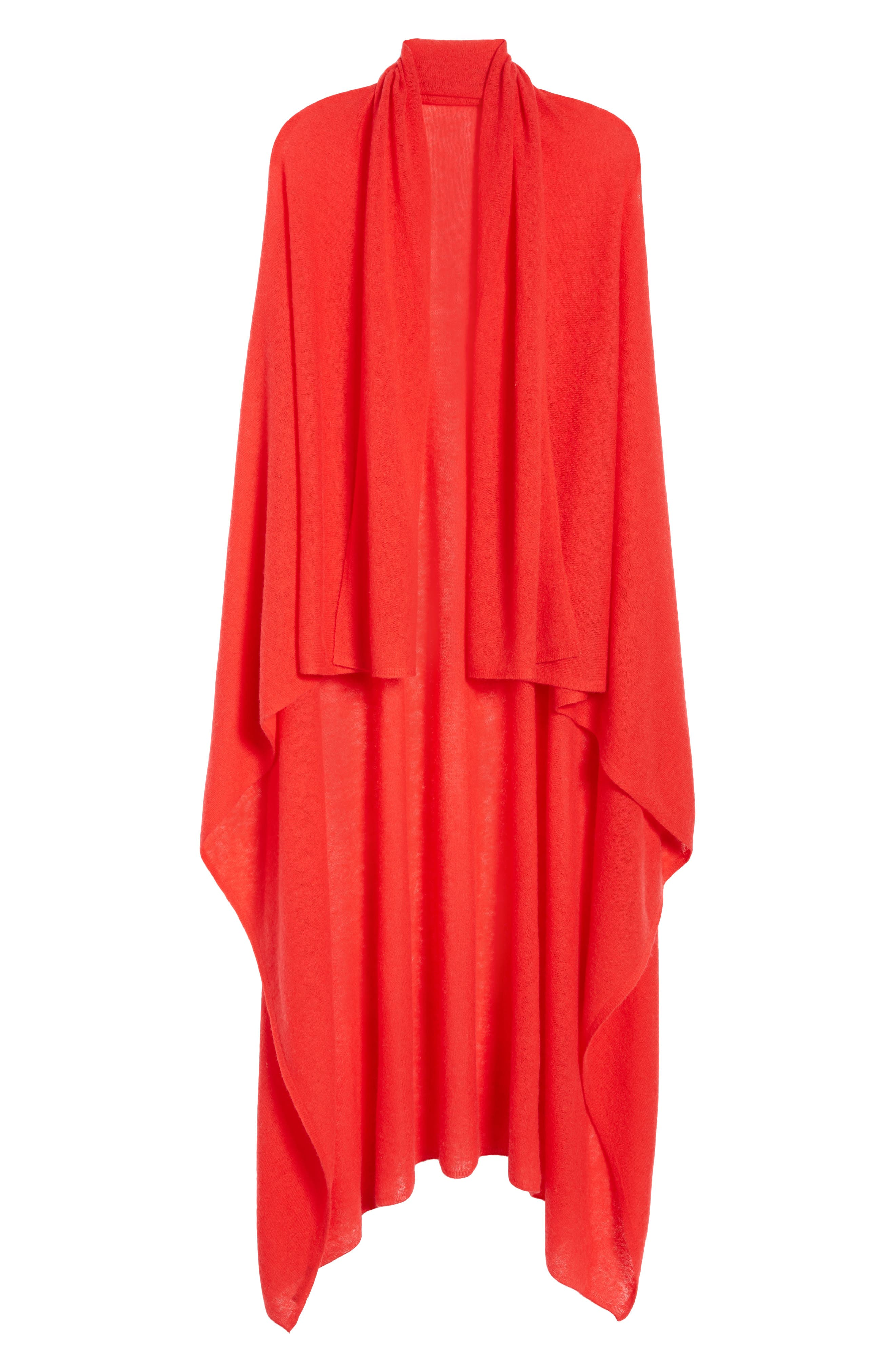 Cashmere Scarf,                             Alternate thumbnail 2, color,                             RED CHINOISE