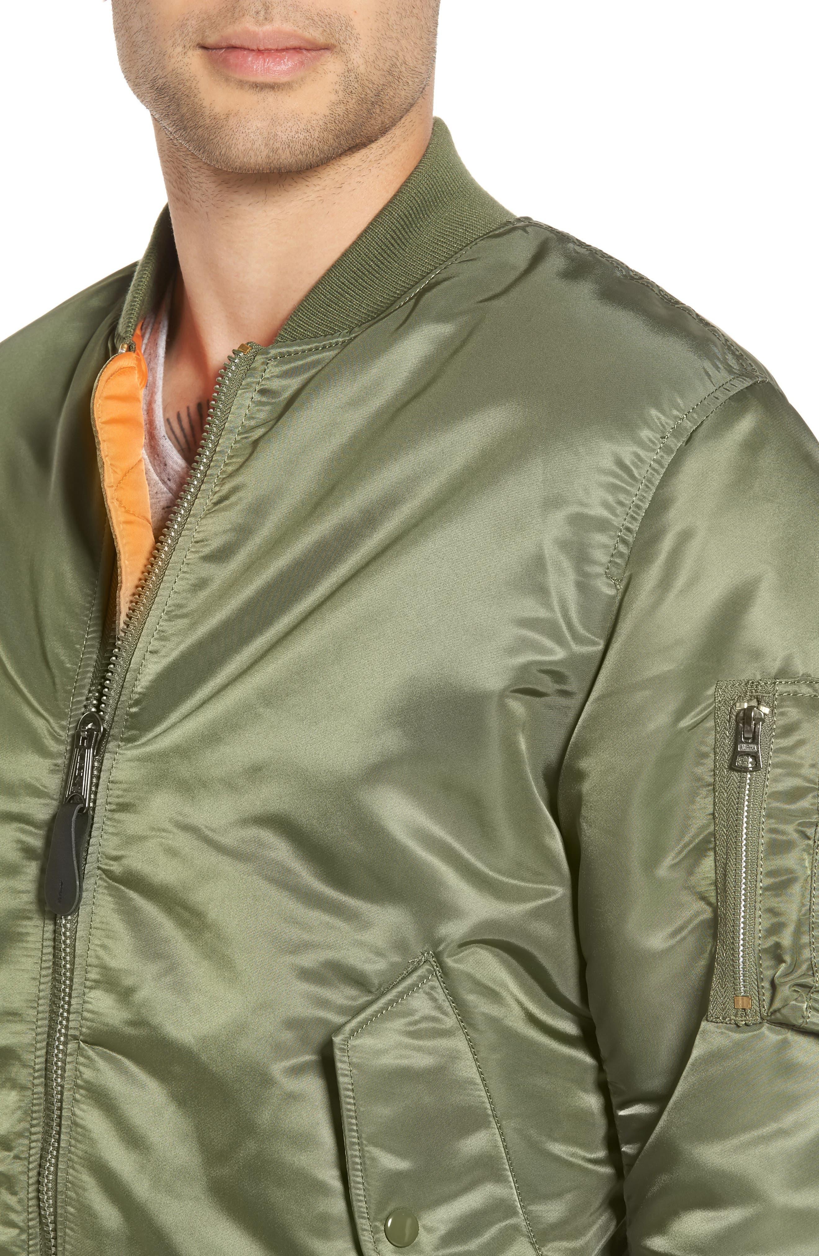 'MA-1' Slim Fit Bomber Jacket,                             Alternate thumbnail 30, color,