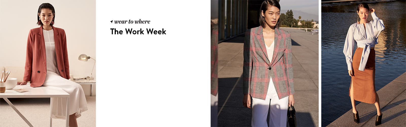 Women's style for the work week.