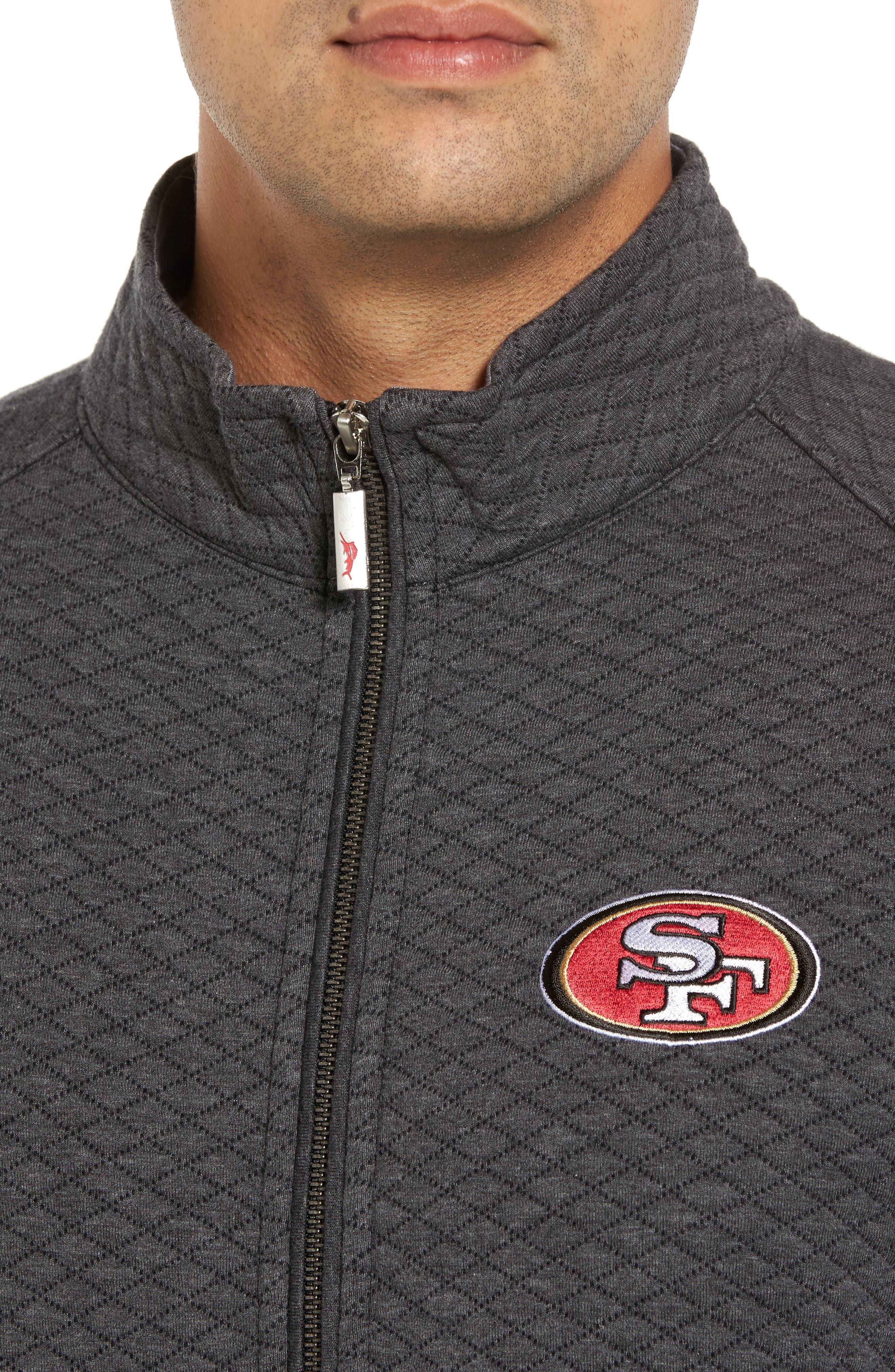 NFL Quiltessential Full Zip Sweatshirt,                             Alternate thumbnail 4, color,                             020