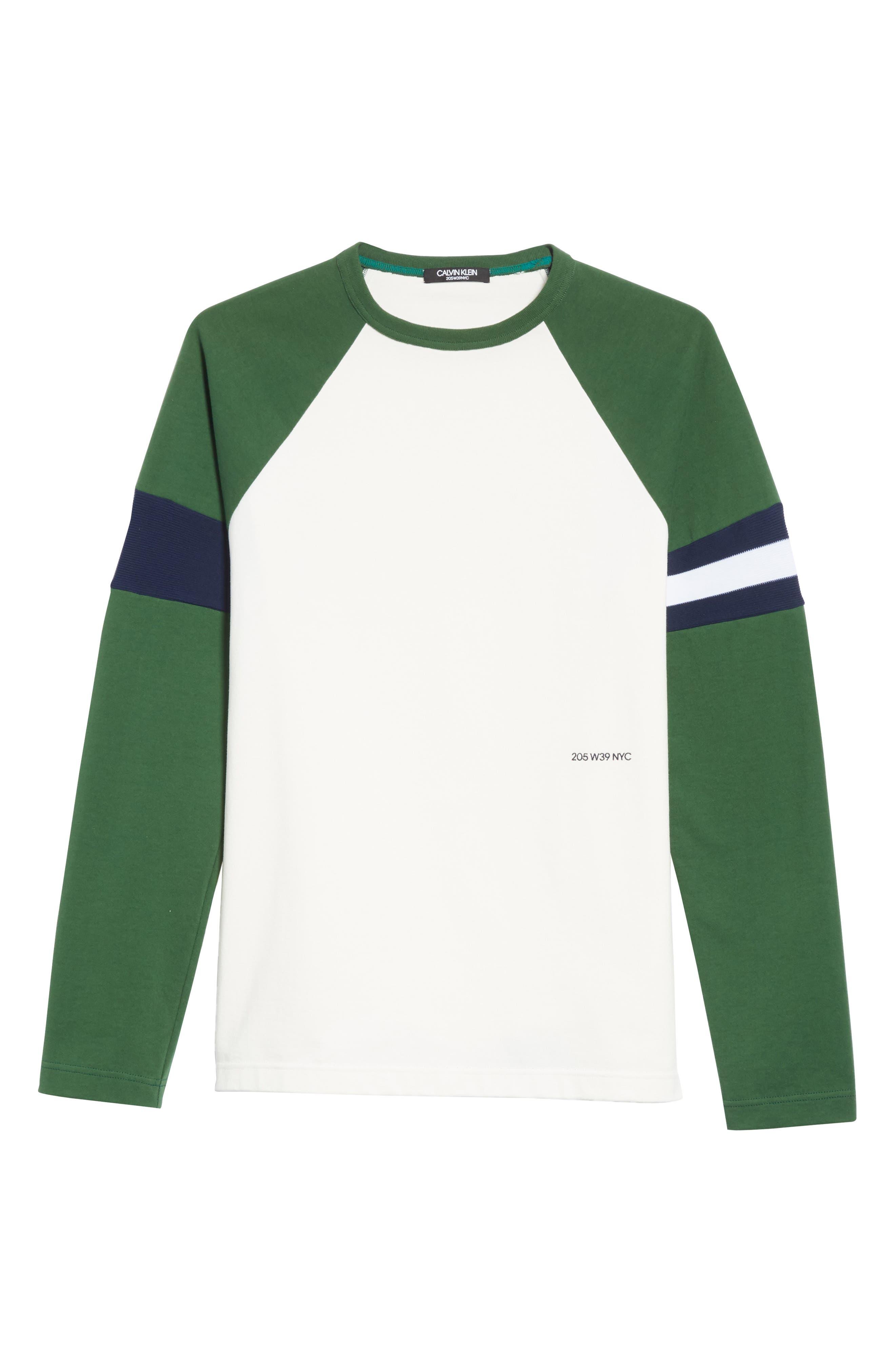 Long Sleeve Varsity T-Shirt,                             Alternate thumbnail 6, color,                             WHITE