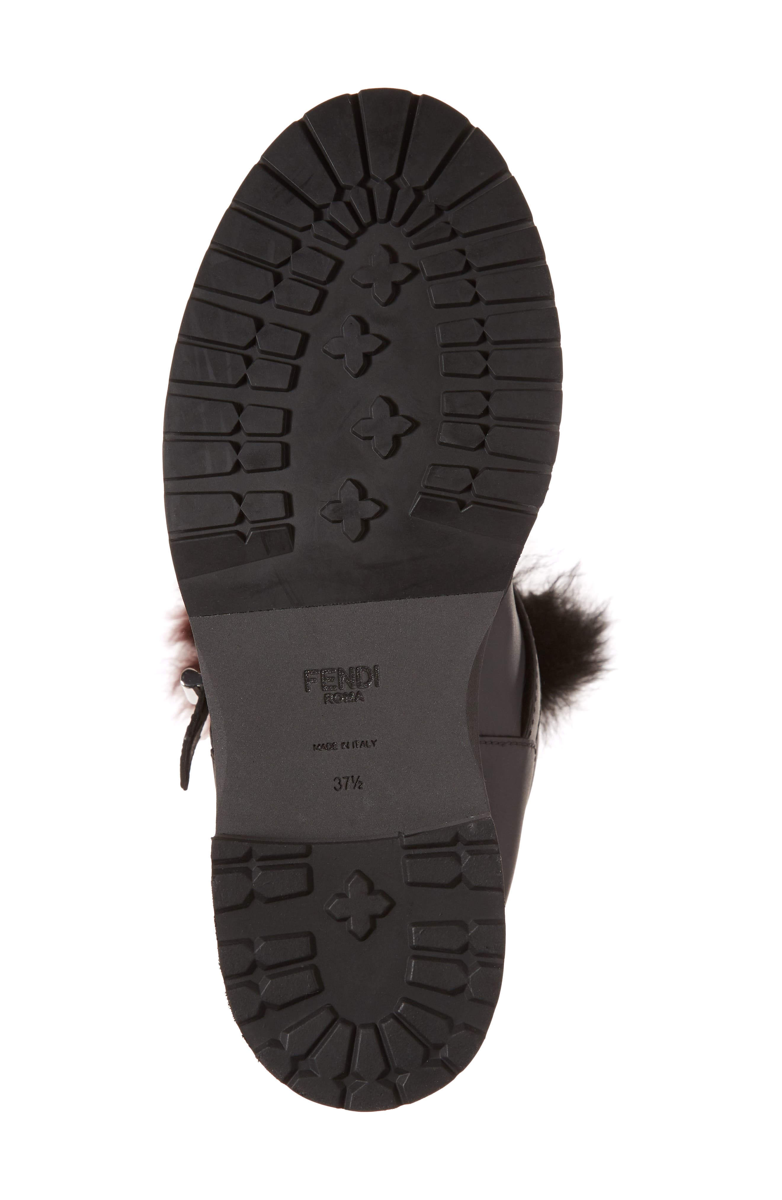 Caroline Genuine Alpaca Fur & Genuine Shearling Engineer Boot,                             Alternate thumbnail 6, color,                             003