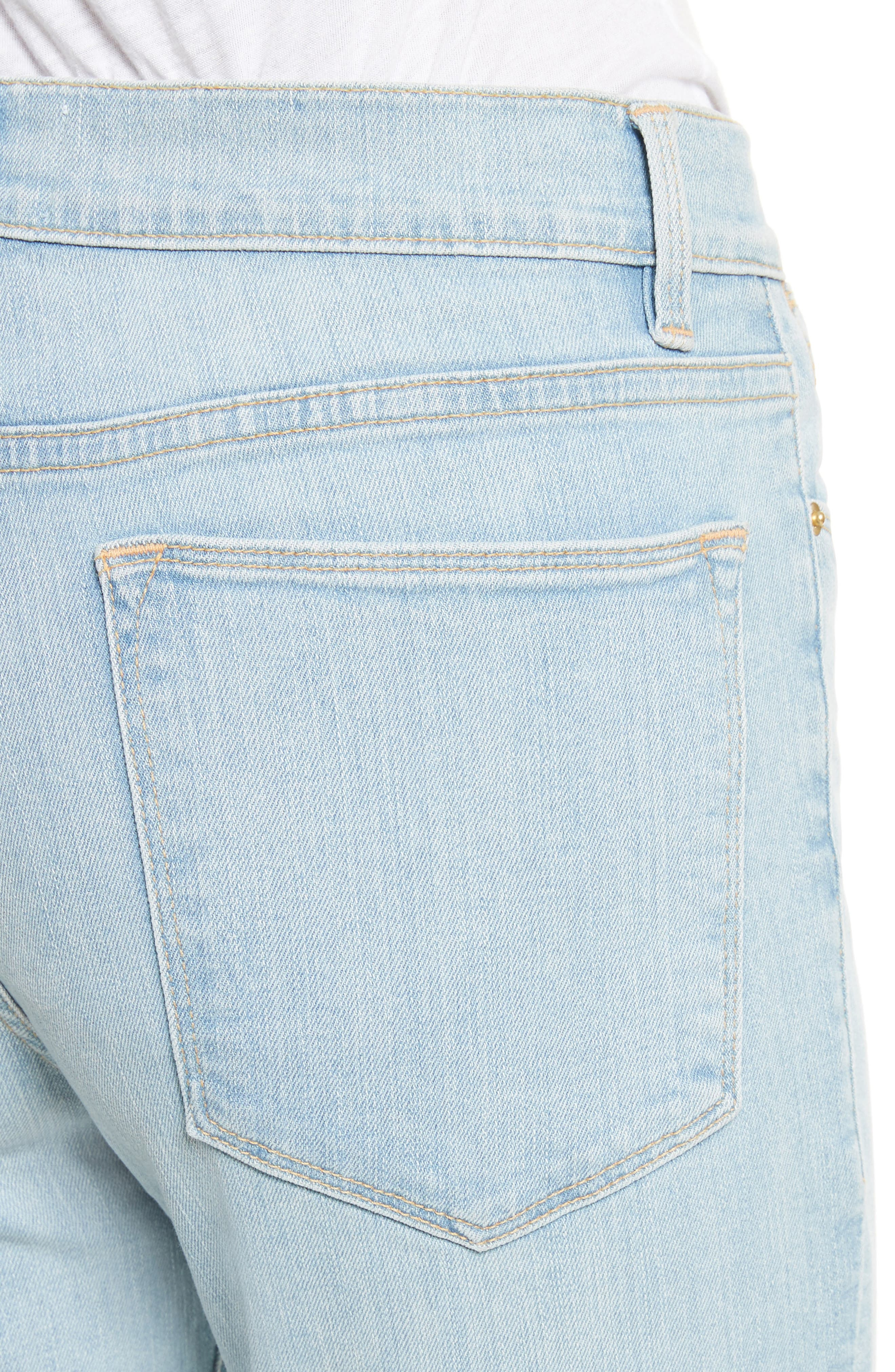 Le High Skinny Crop Jeans,                             Alternate thumbnail 4, color,