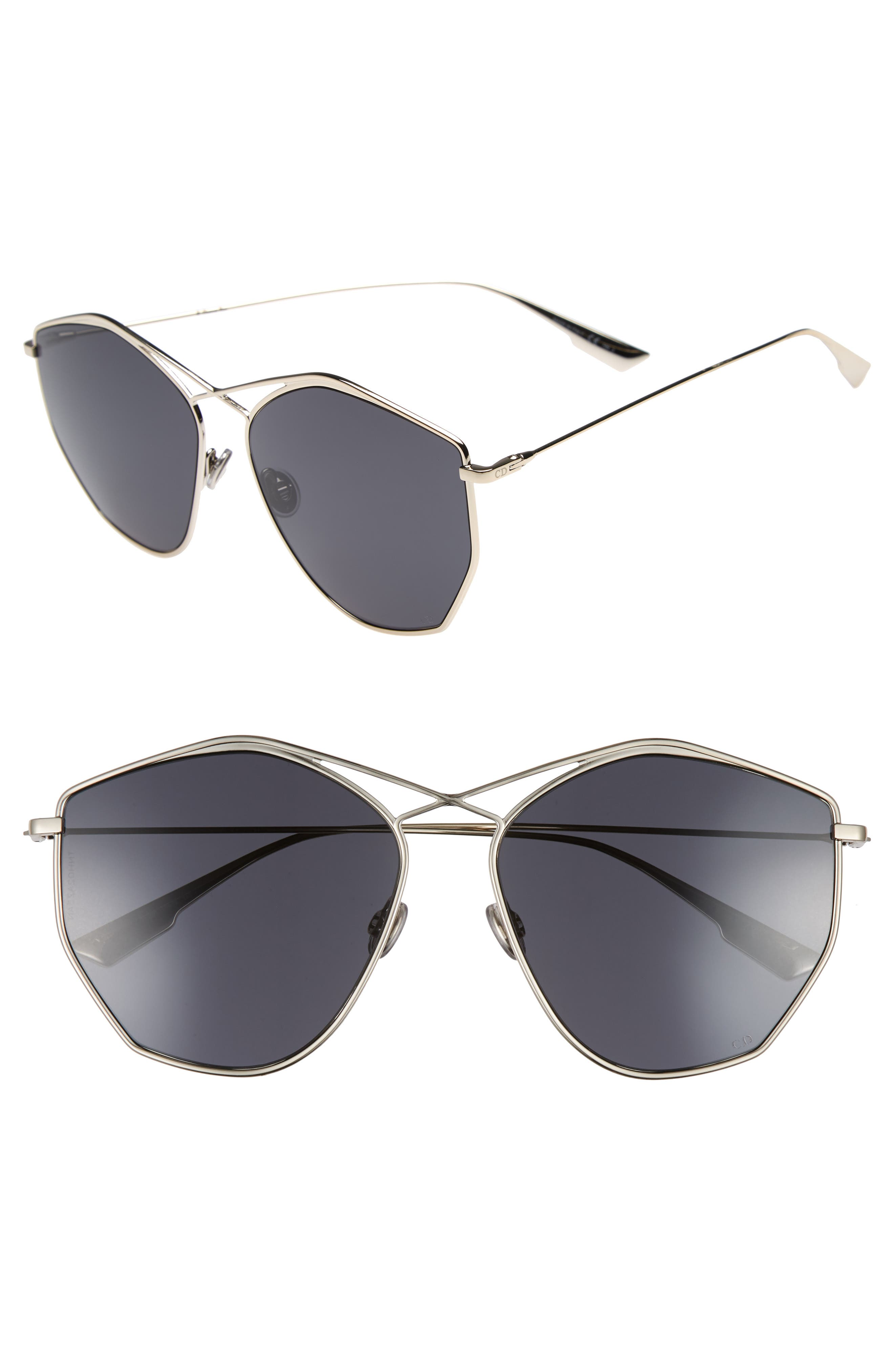 59mm Metal Sunglasses,                             Main thumbnail 1, color,                             LIGHT GOLD
