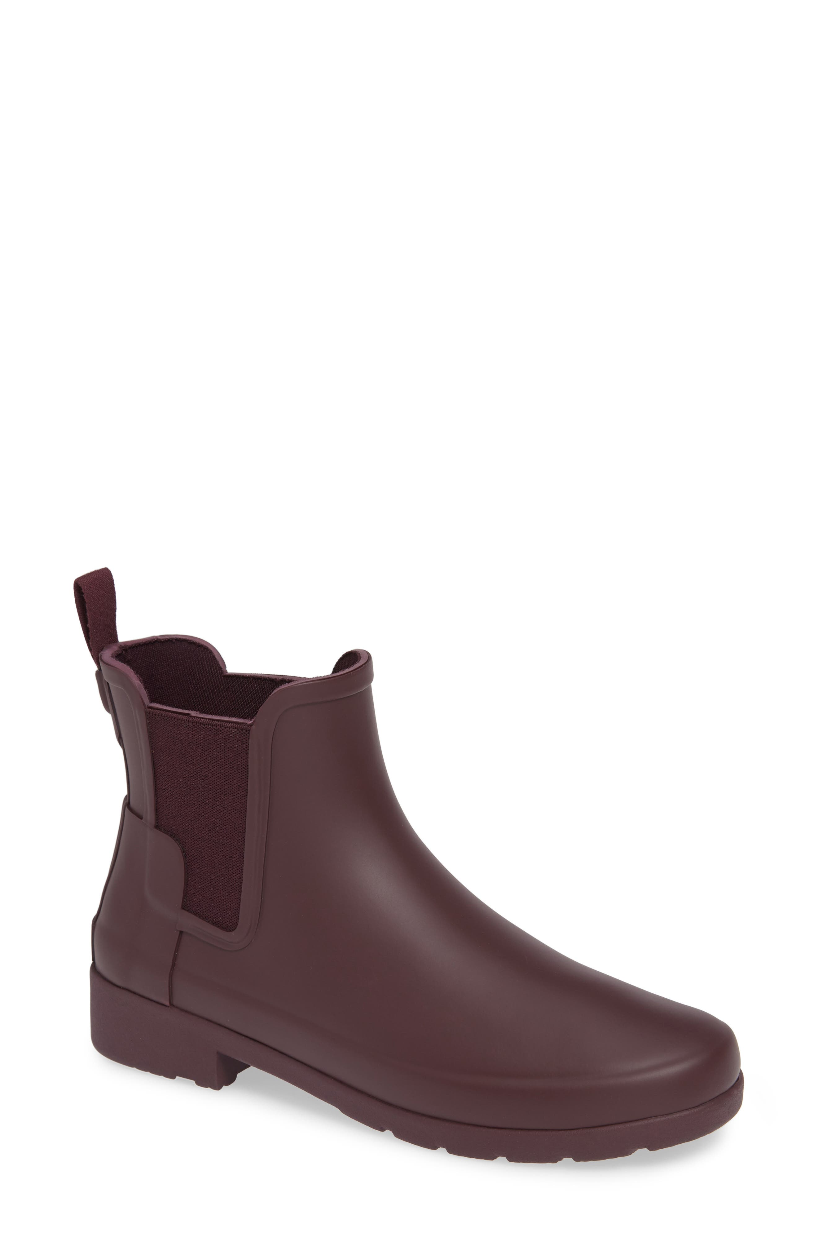 Refined Chelsea Boot,                             Main thumbnail 1, color,                             OXBLOOD