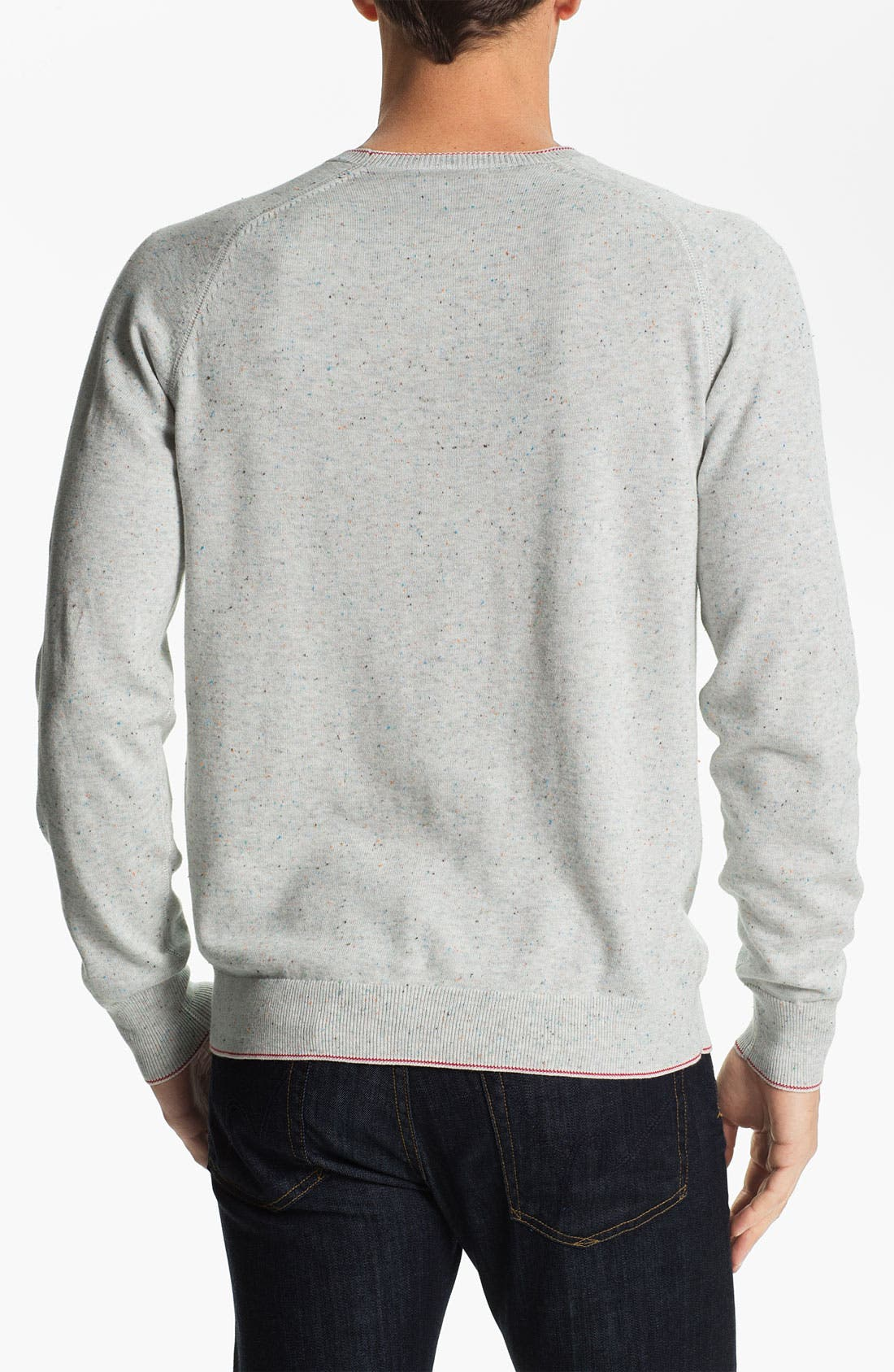 AGAVE,                             'Abeam' Crewneck Sweater,                             Alternate thumbnail 3, color,                             074