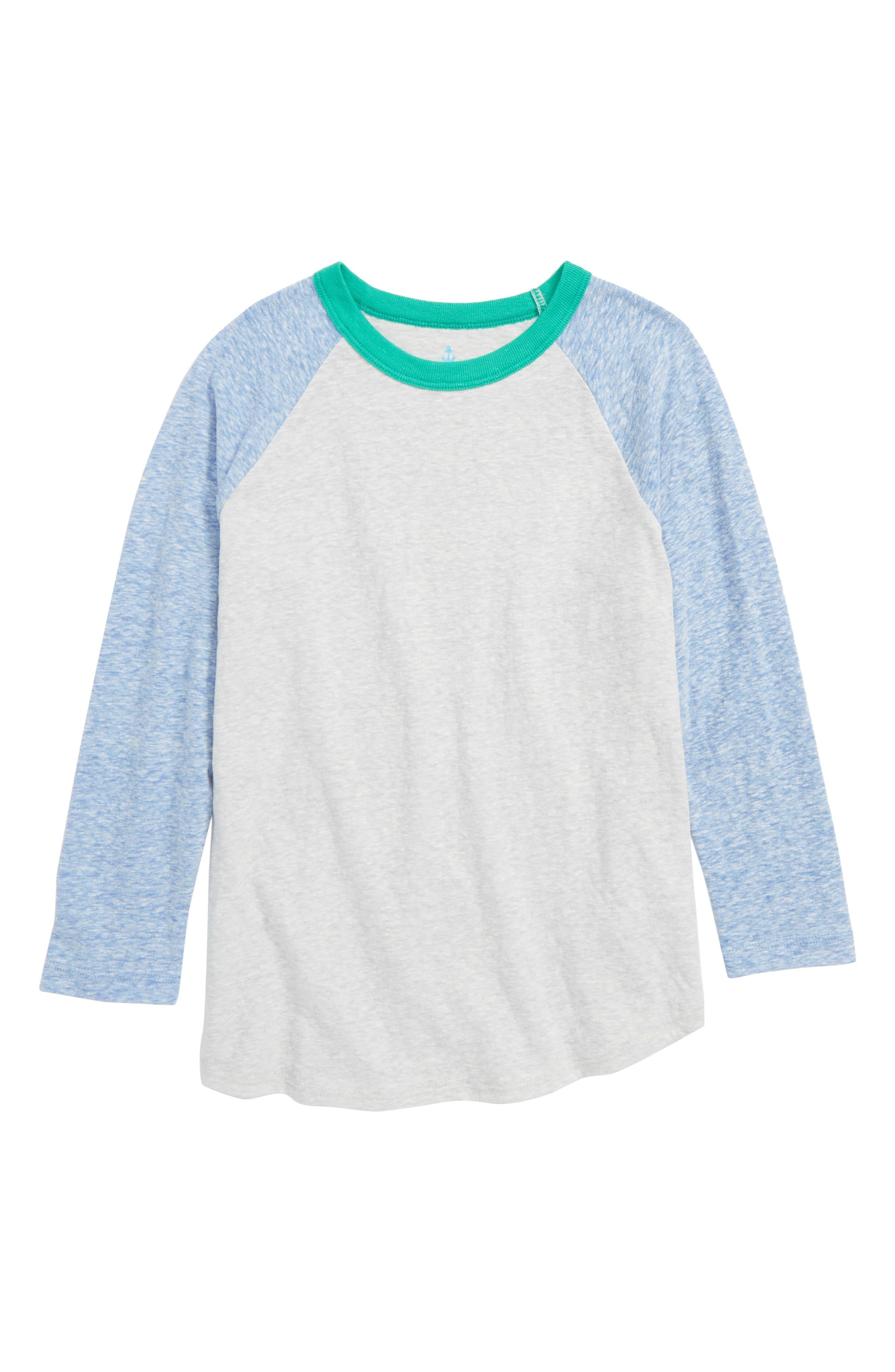 CREWCUTS BY J.CREW Jersey Baseball T-Shirt, Main, color, 020