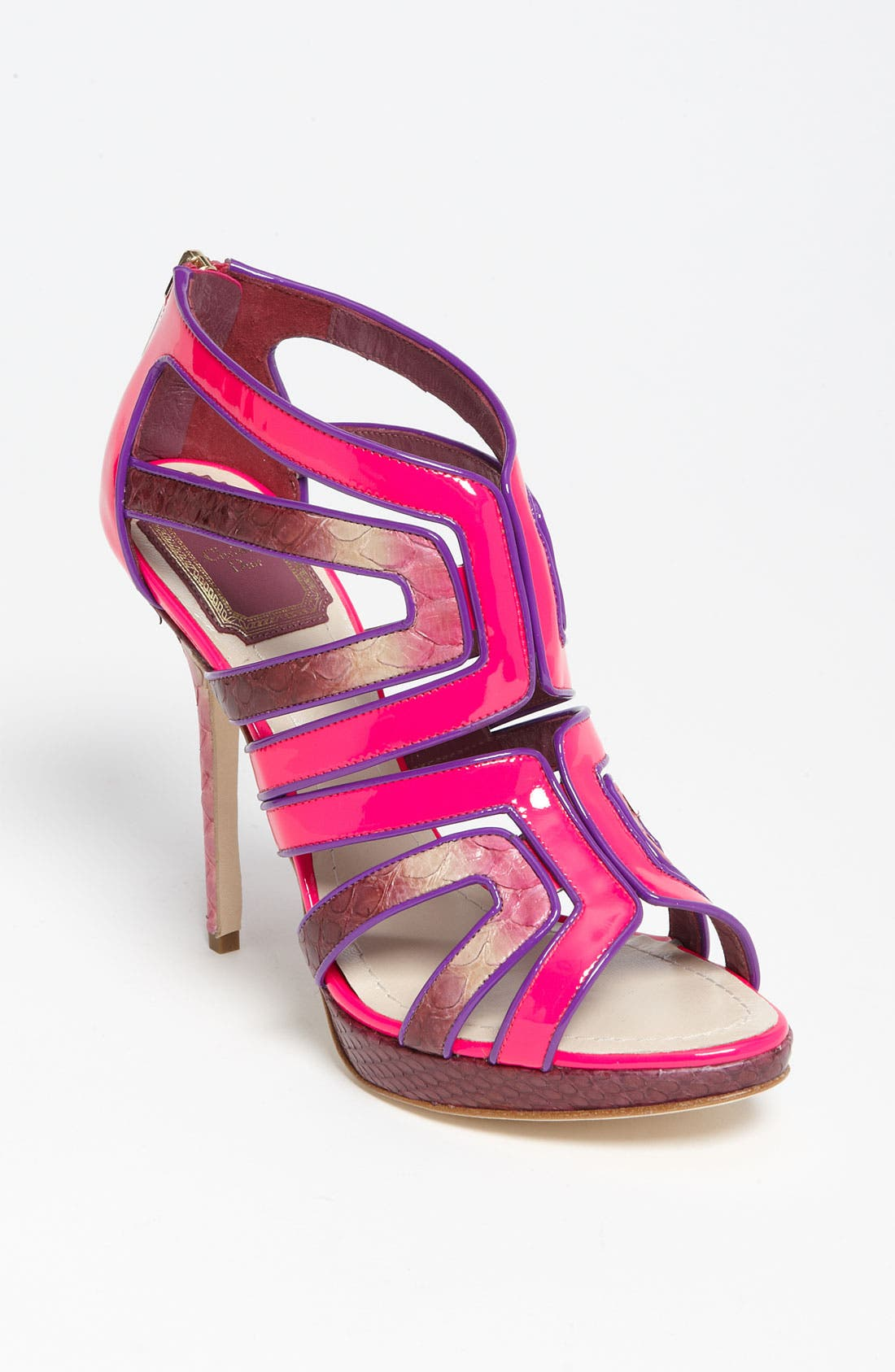 'Intense' Genuine Python Sandal,                         Main,                         color, 650