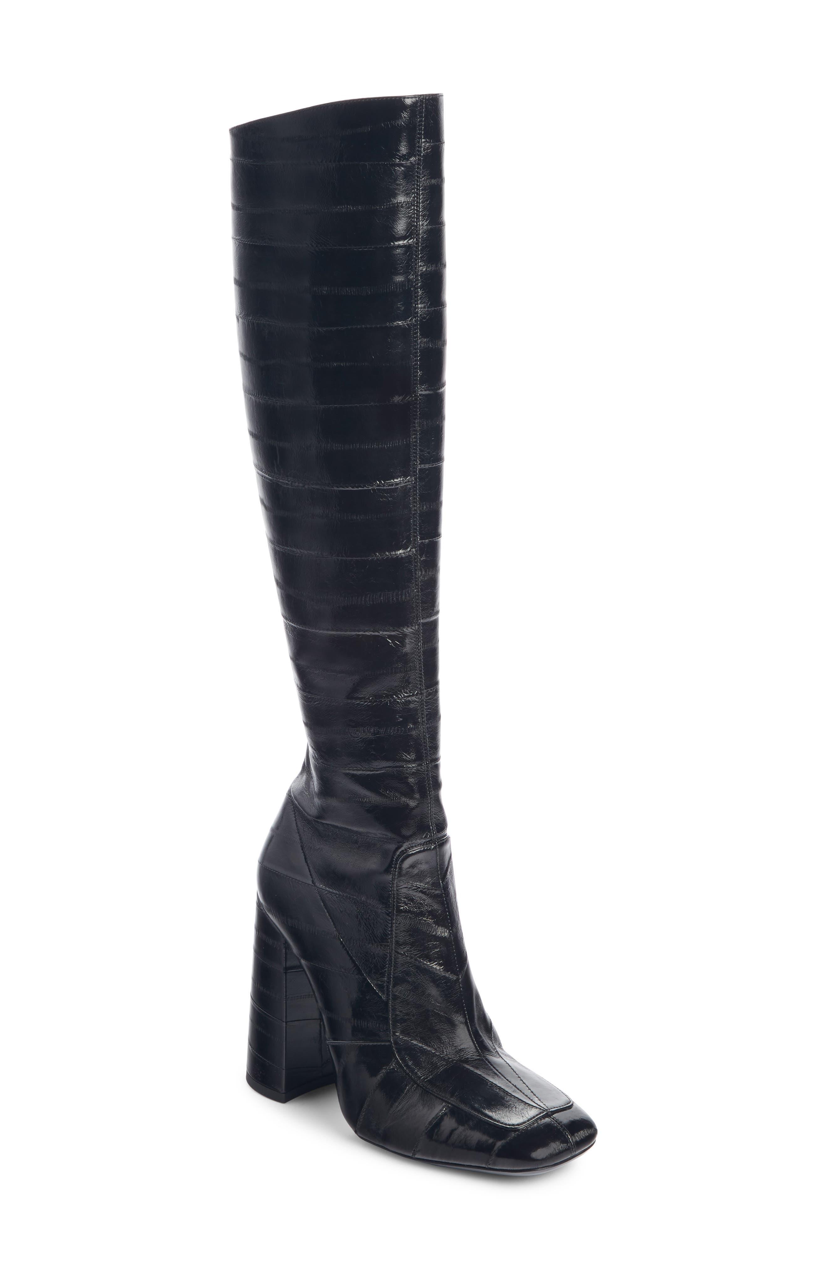 Saint Laurent Jane Tall Boot, Black