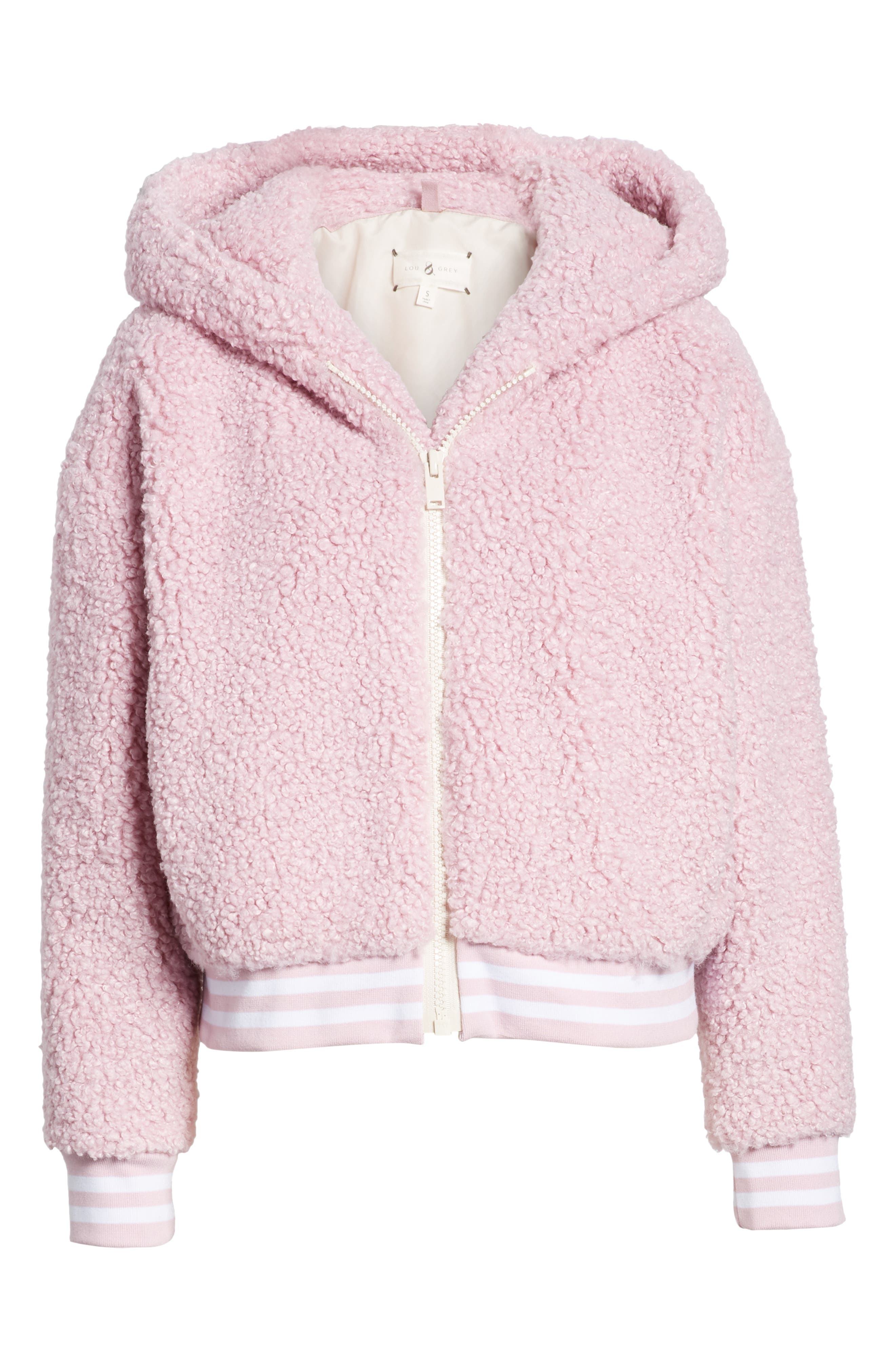 Frida Faux Fur Hooded Jacket,                             Alternate thumbnail 6, color,                             WINSOME ORCHID 3741