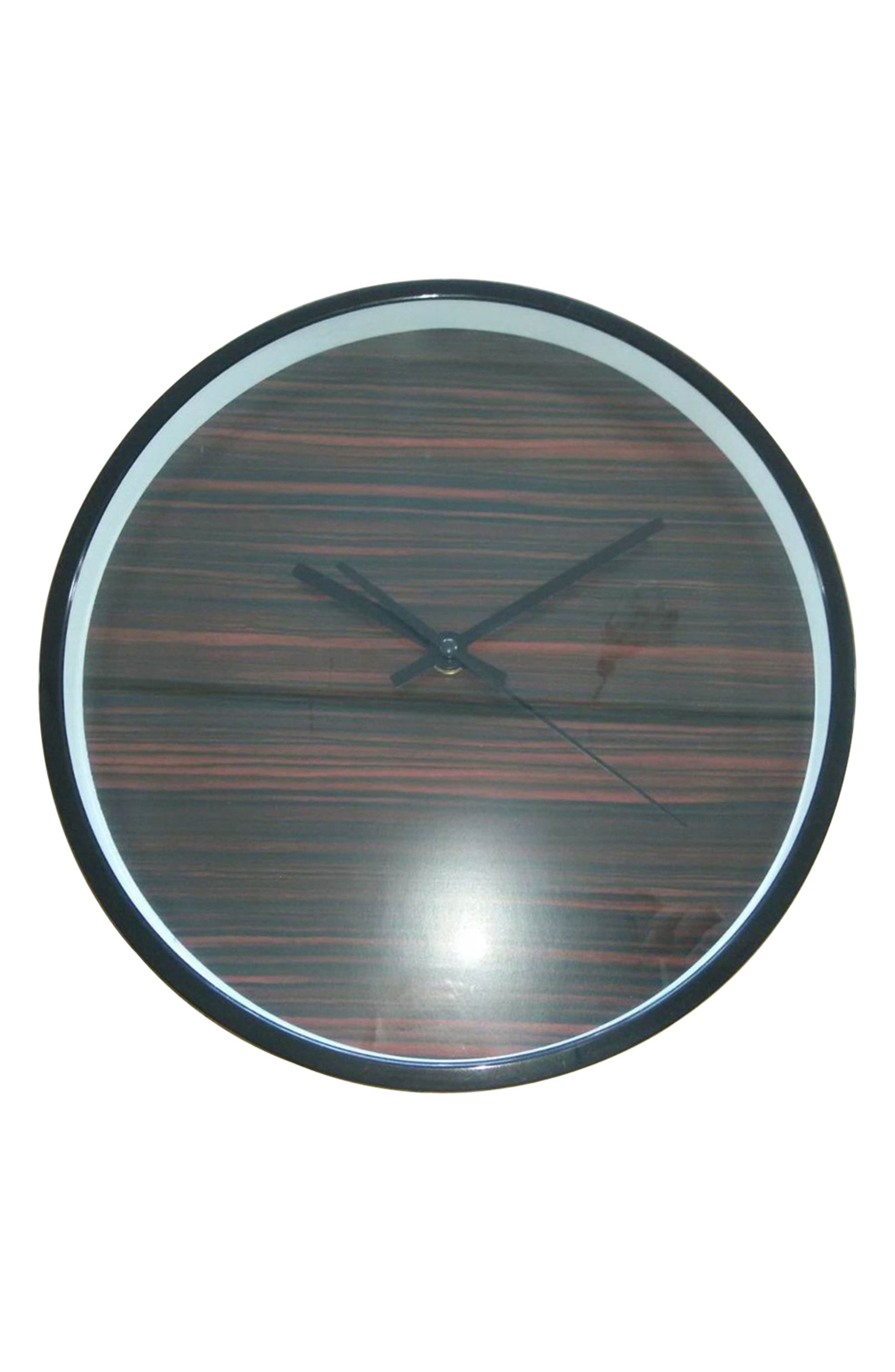 Wood Print Wall Clock,                             Alternate thumbnail 3, color,                             200