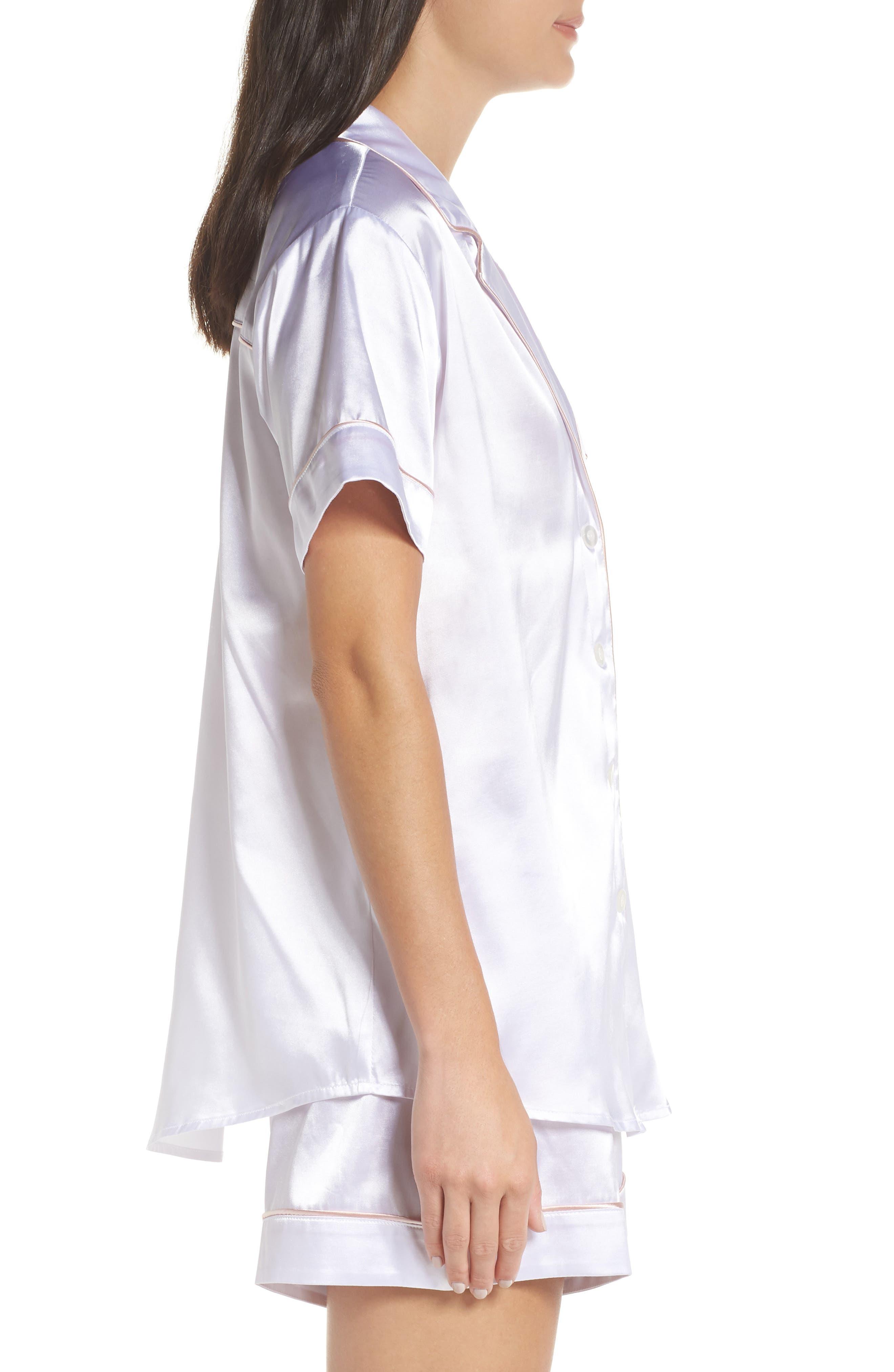 Bride Short Satin Pajamas,                             Alternate thumbnail 3, color,                             100