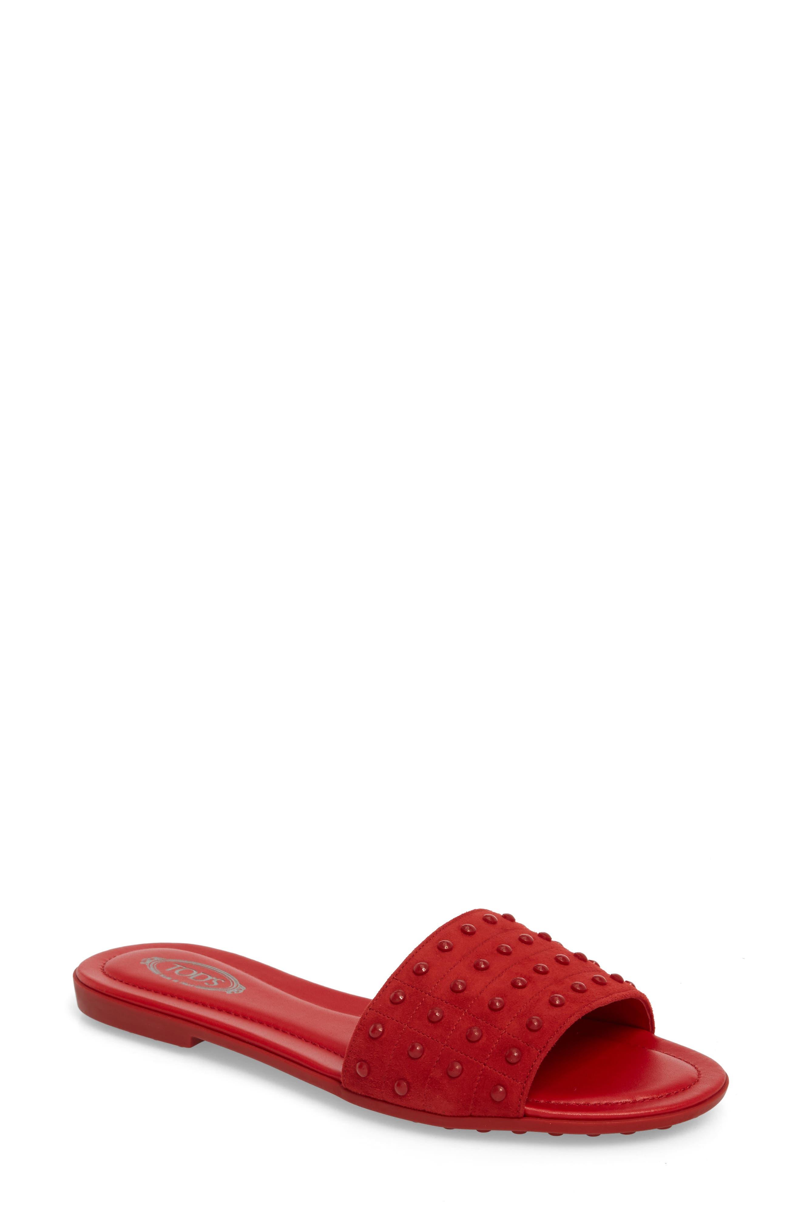 Gommini Slide Sandal,                             Main thumbnail 4, color,