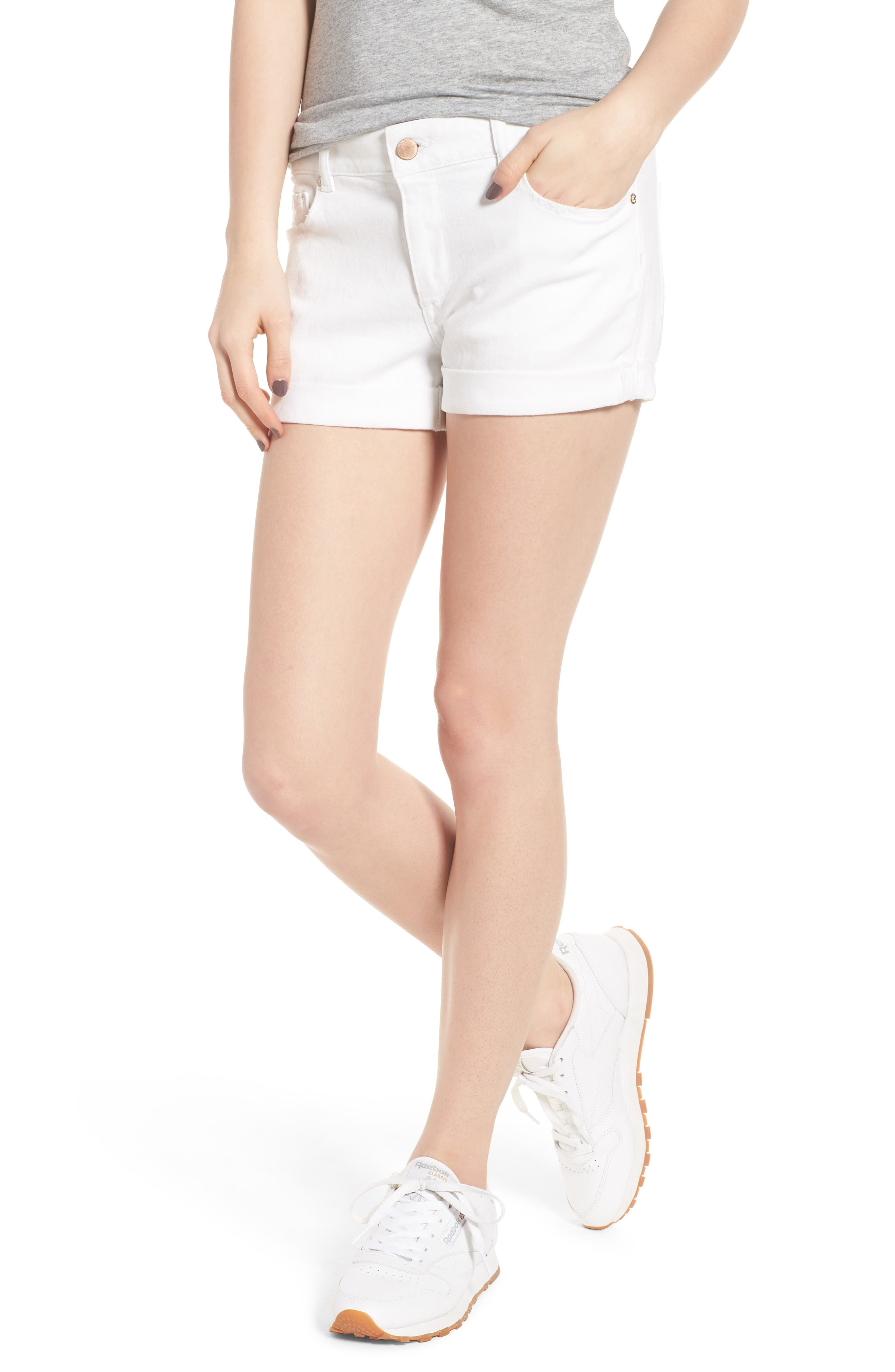 Renee Cutoff Denim Shorts,                         Main,                         color, 020