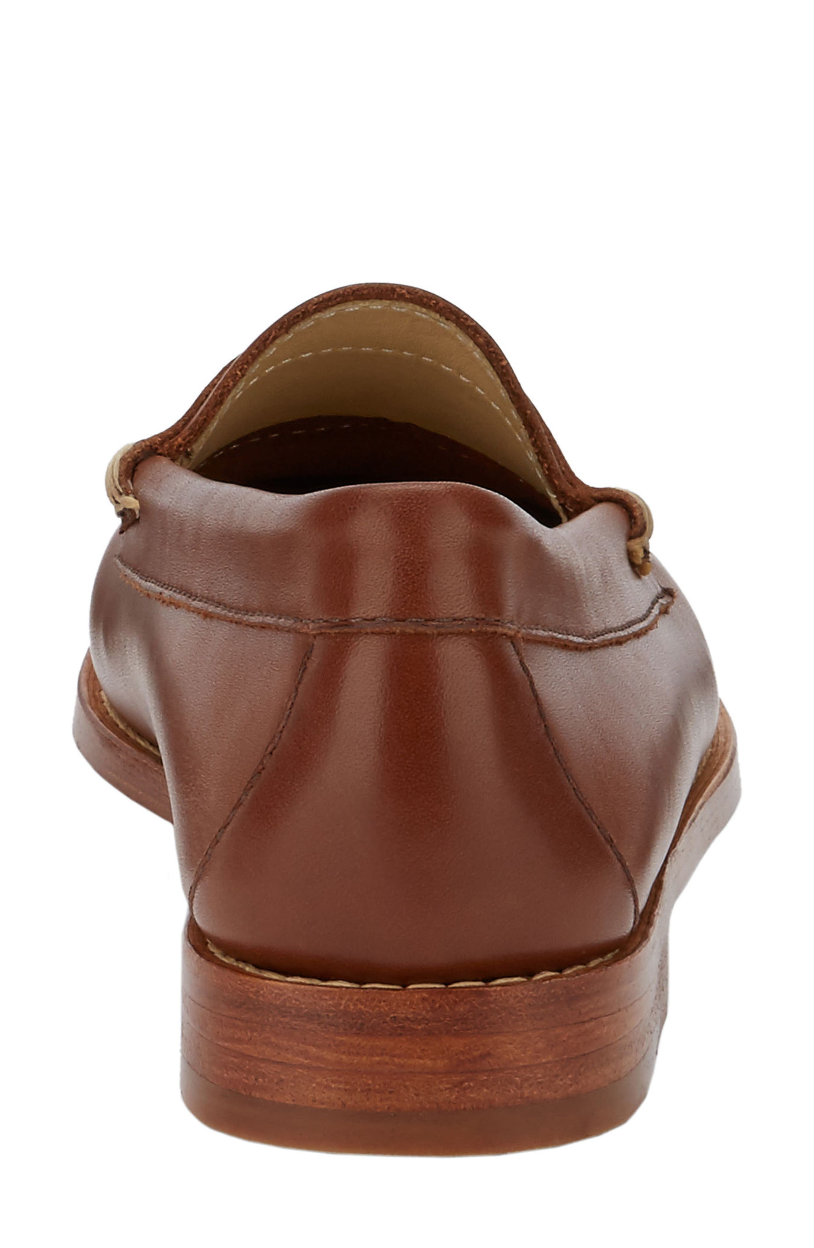 'Whitney' Loafer,                             Alternate thumbnail 5, color,                             COGNAC LEATHER