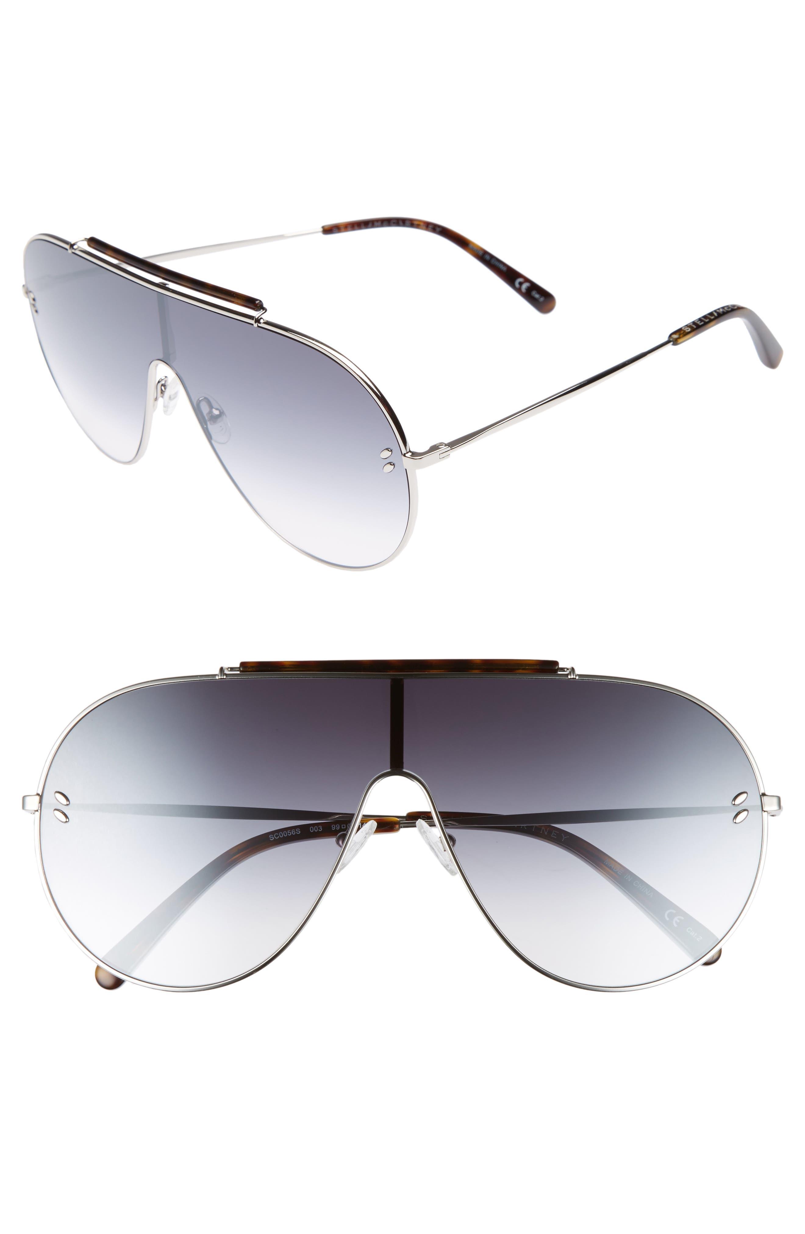65mm Shield Sunglasses,                             Main thumbnail 1, color,
