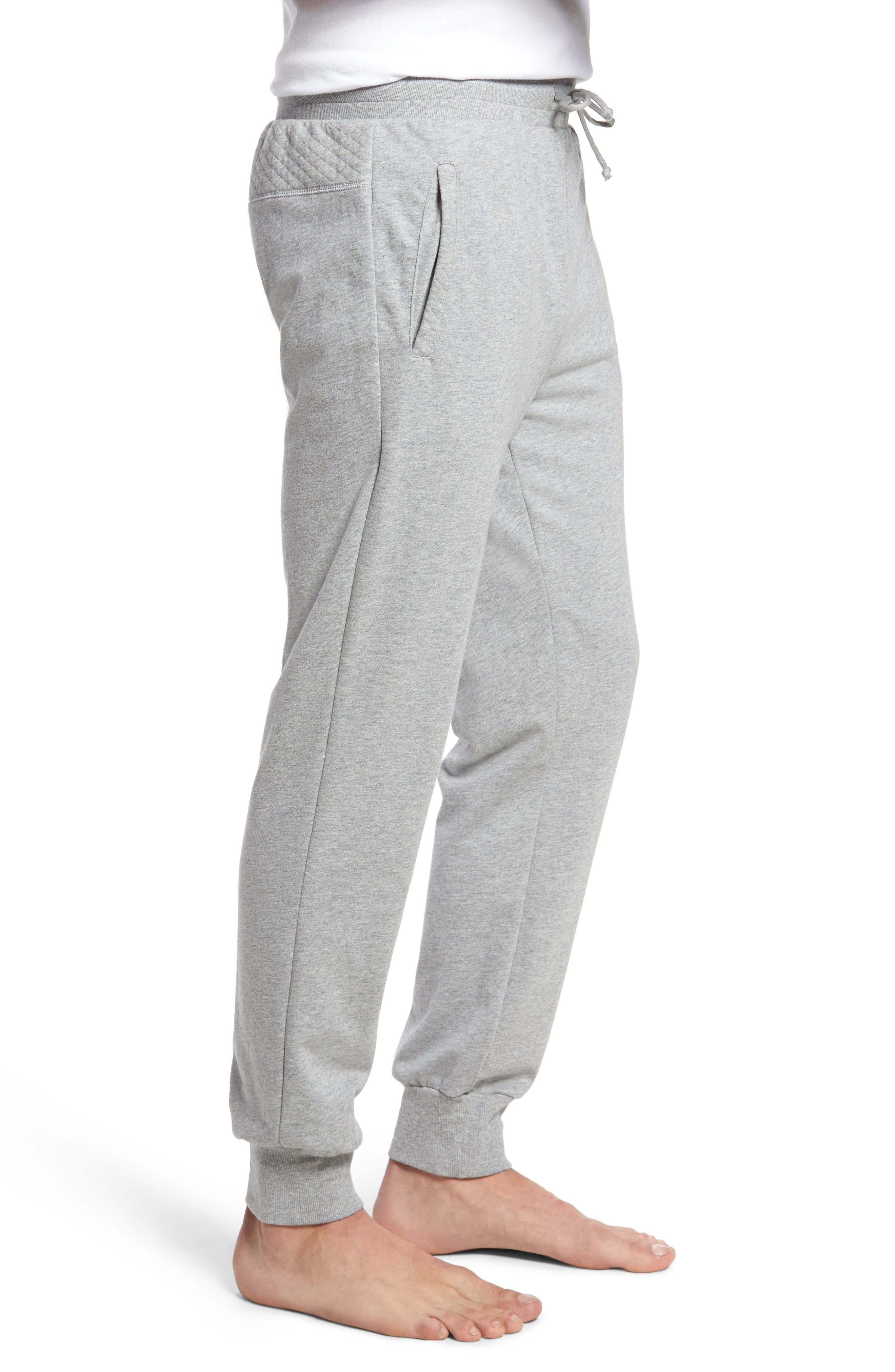 Quilted Lounge Pants,                             Alternate thumbnail 3, color,                             030