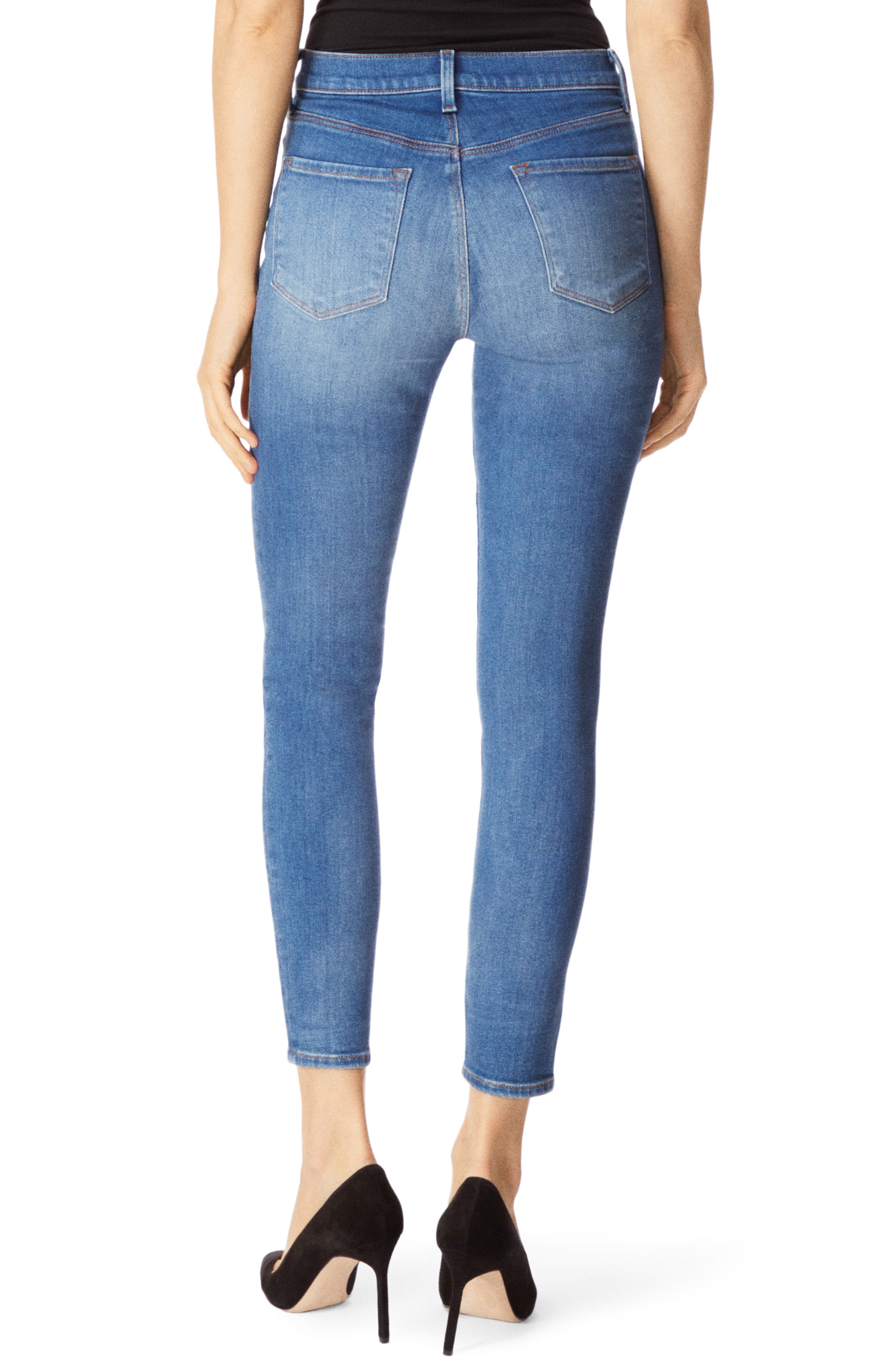 Alana High Waist Crop Skinny Jeans,                             Alternate thumbnail 2, color,                             RADIATE