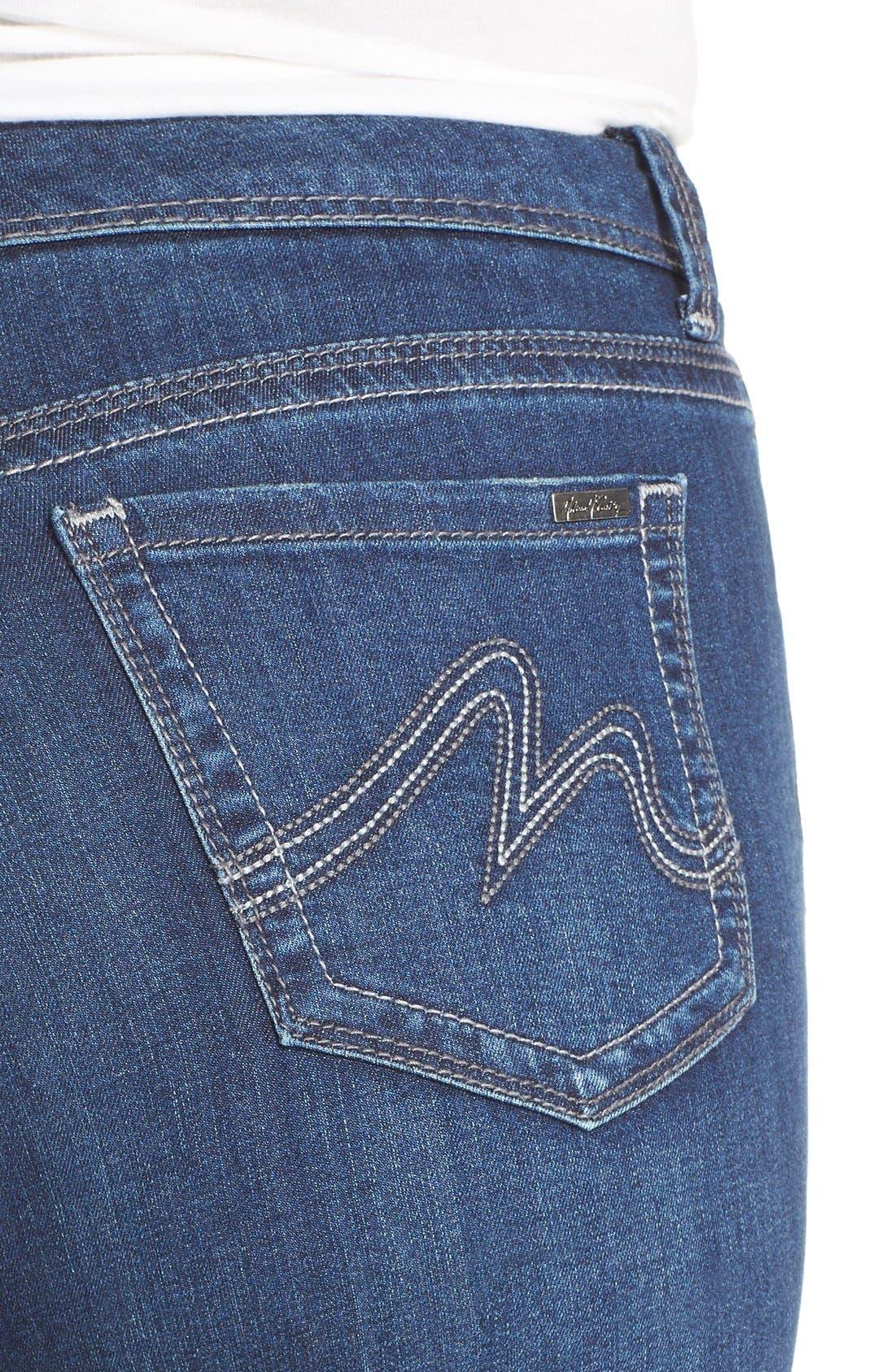 Stretch Crop Jeans,                             Alternate thumbnail 3, color,                             428