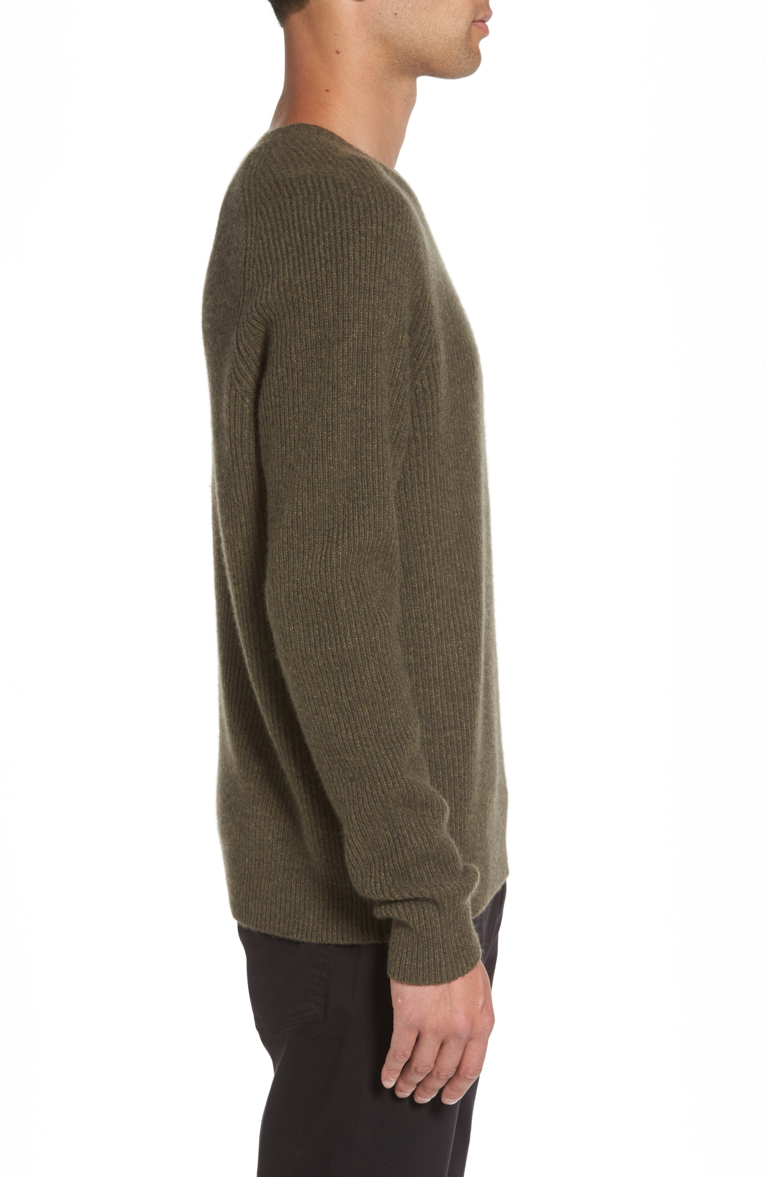Ribbed Wool & Cashmere Raglan Sweater,                             Alternate thumbnail 10, color,