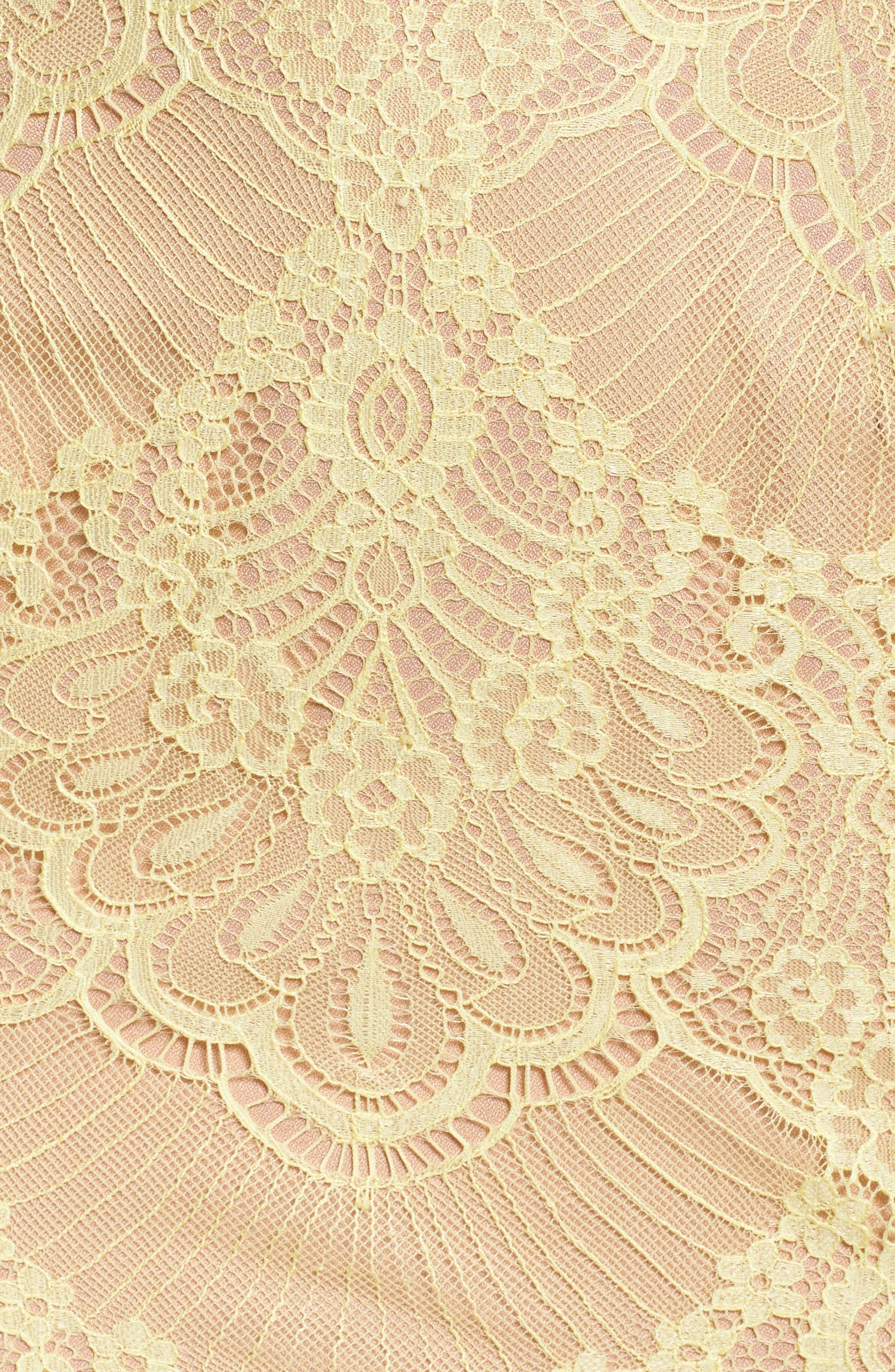 Toril Off the Shoulder Lace Midi Dress,                             Alternate thumbnail 5, color,                             742