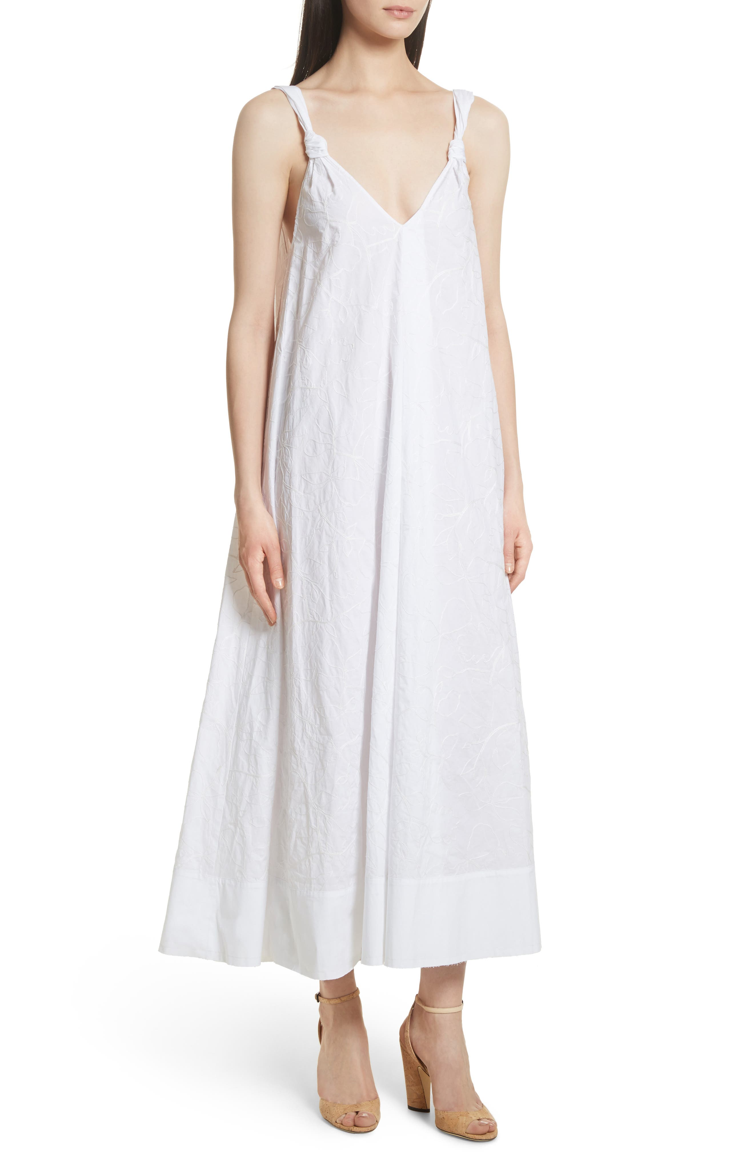ELIZABETH AND JAMES Denali Embroidered Maxi Dress, Main, color, 100