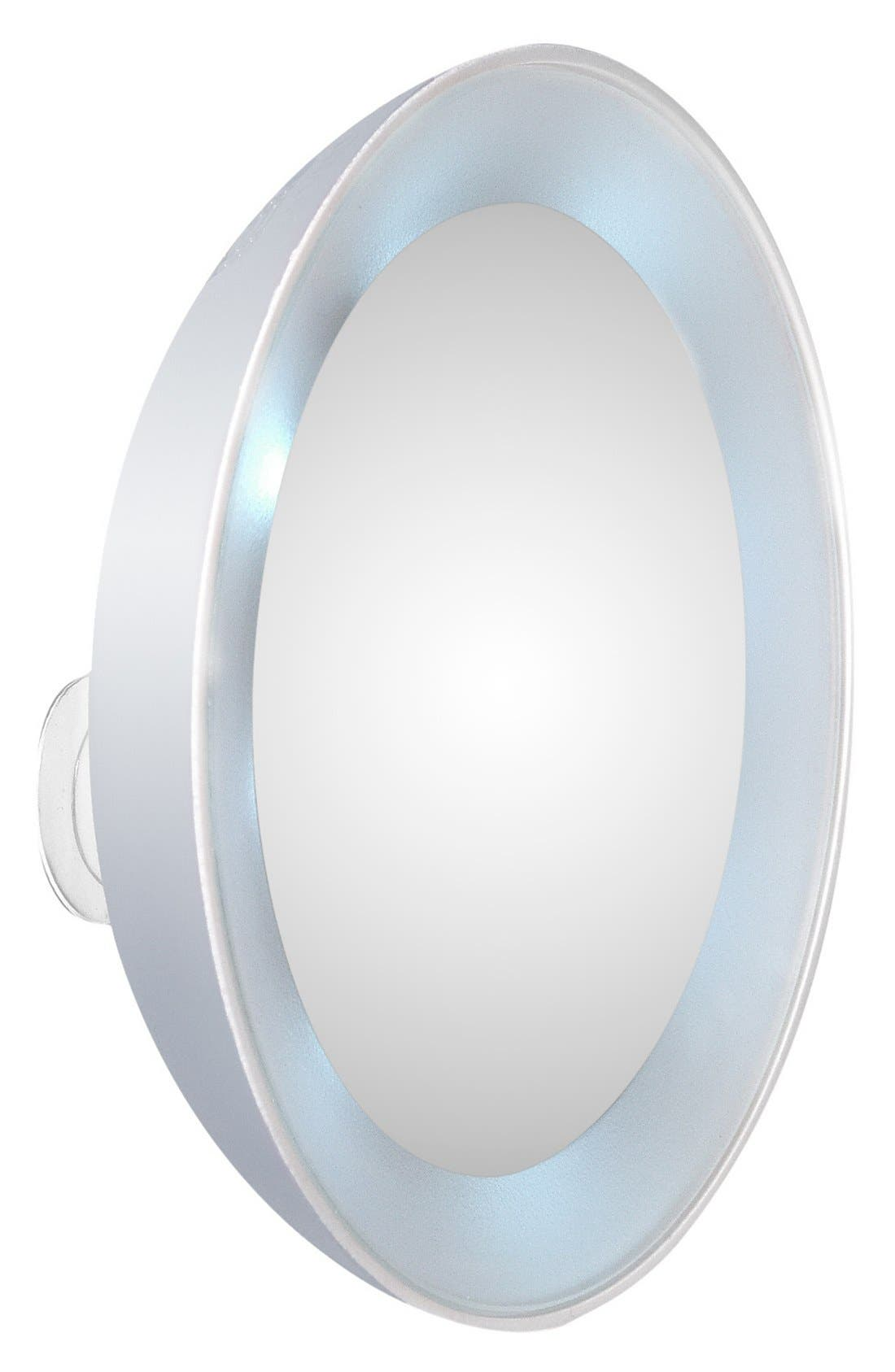 LED 15x Lighted Mirror,                             Main thumbnail 1, color,                             000
