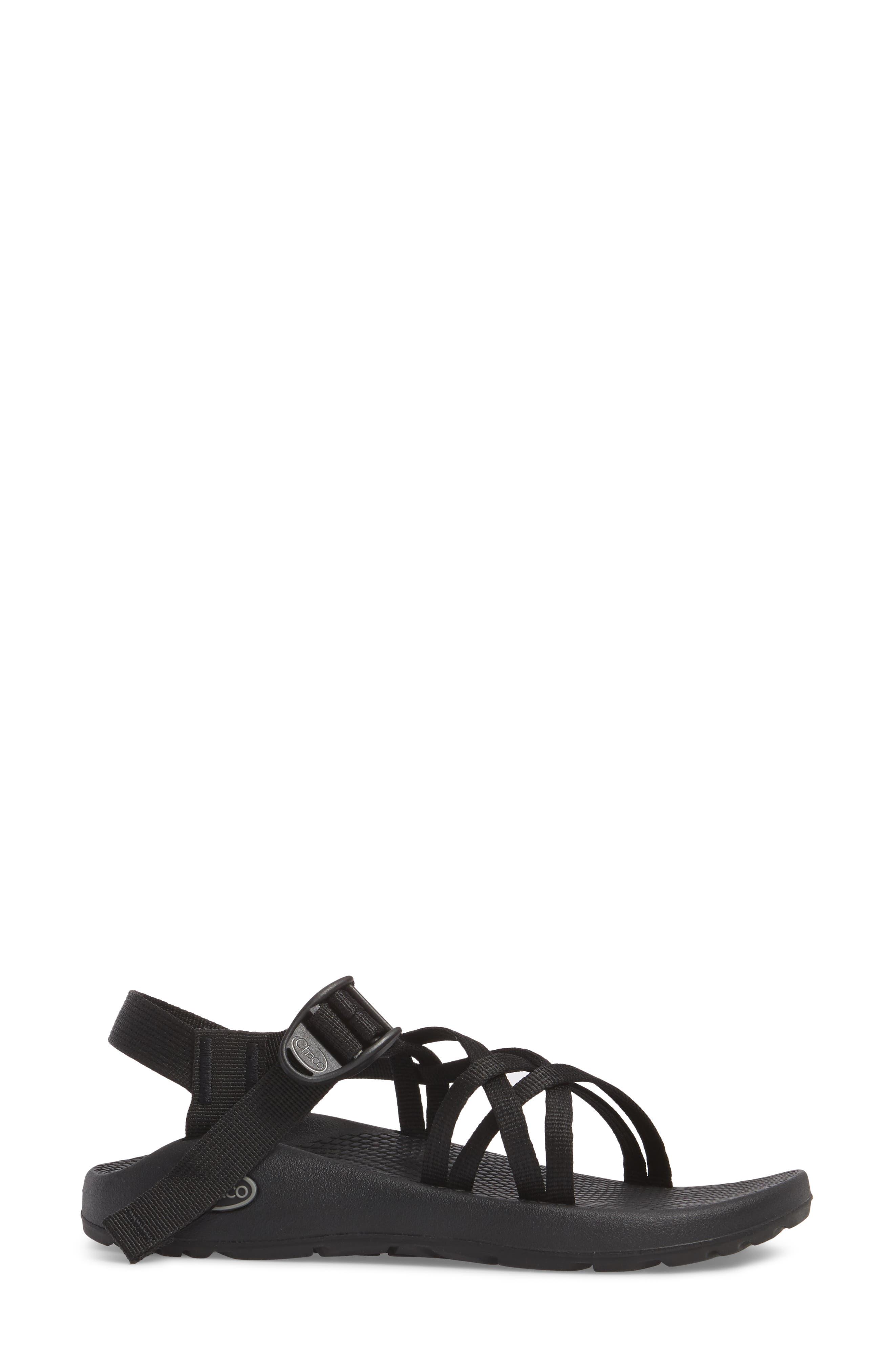 ZX1 Classic Sport Sandal,                             Alternate thumbnail 3, color,                             BLACK