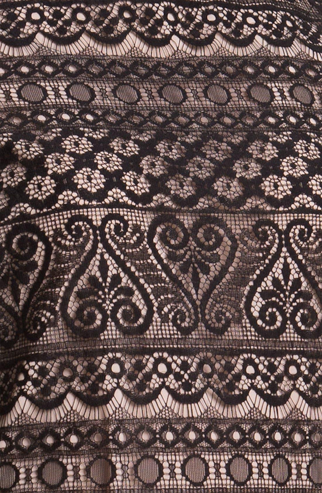 Lace Shift Dress,                             Alternate thumbnail 3, color,                             001