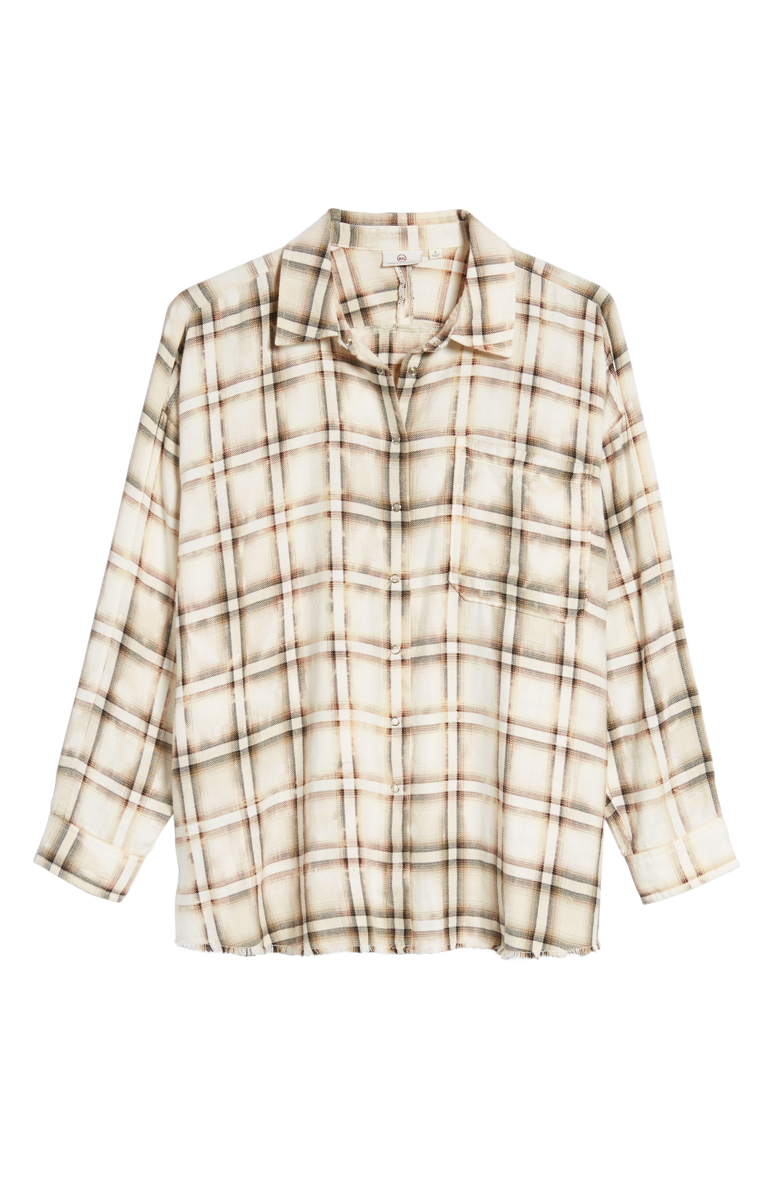 Josie Flannel Shirt,                             Alternate thumbnail 6, color,                             909