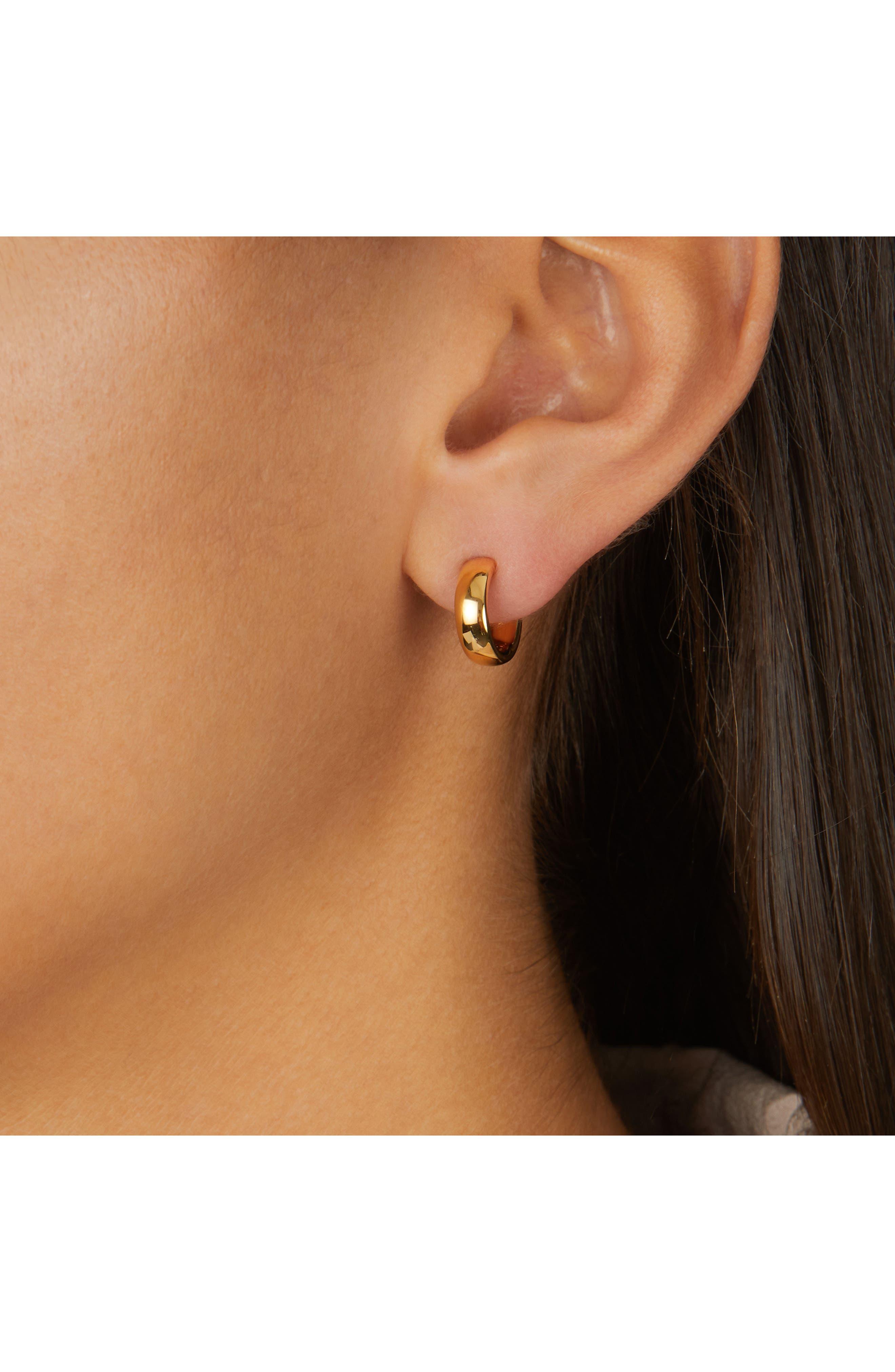 Fiji Mini Hoop Earrings,                             Alternate thumbnail 2, color,                             GOLD