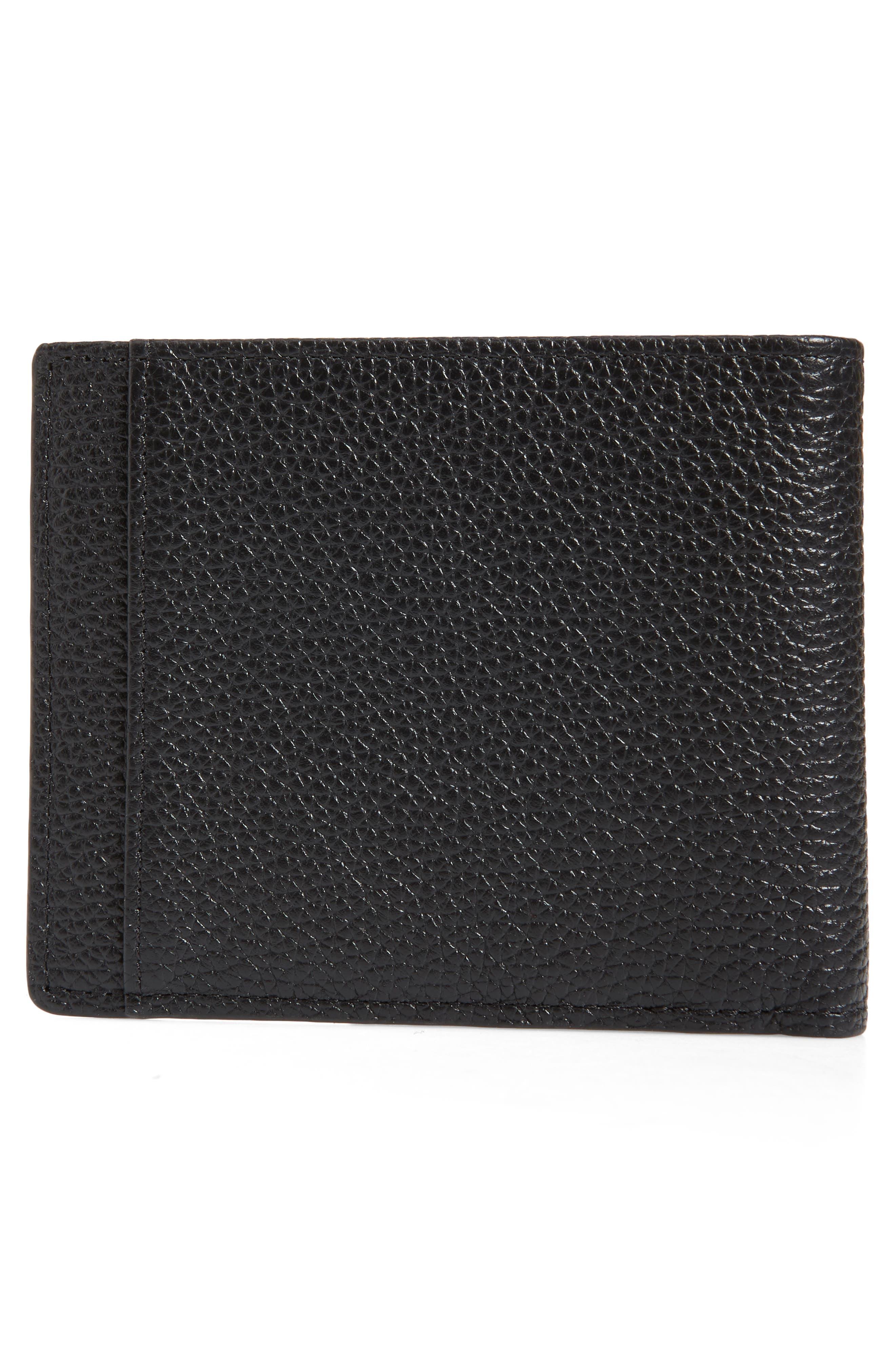 Midland RFID Leather Wallet,                             Alternate thumbnail 3, color,                             BLACK