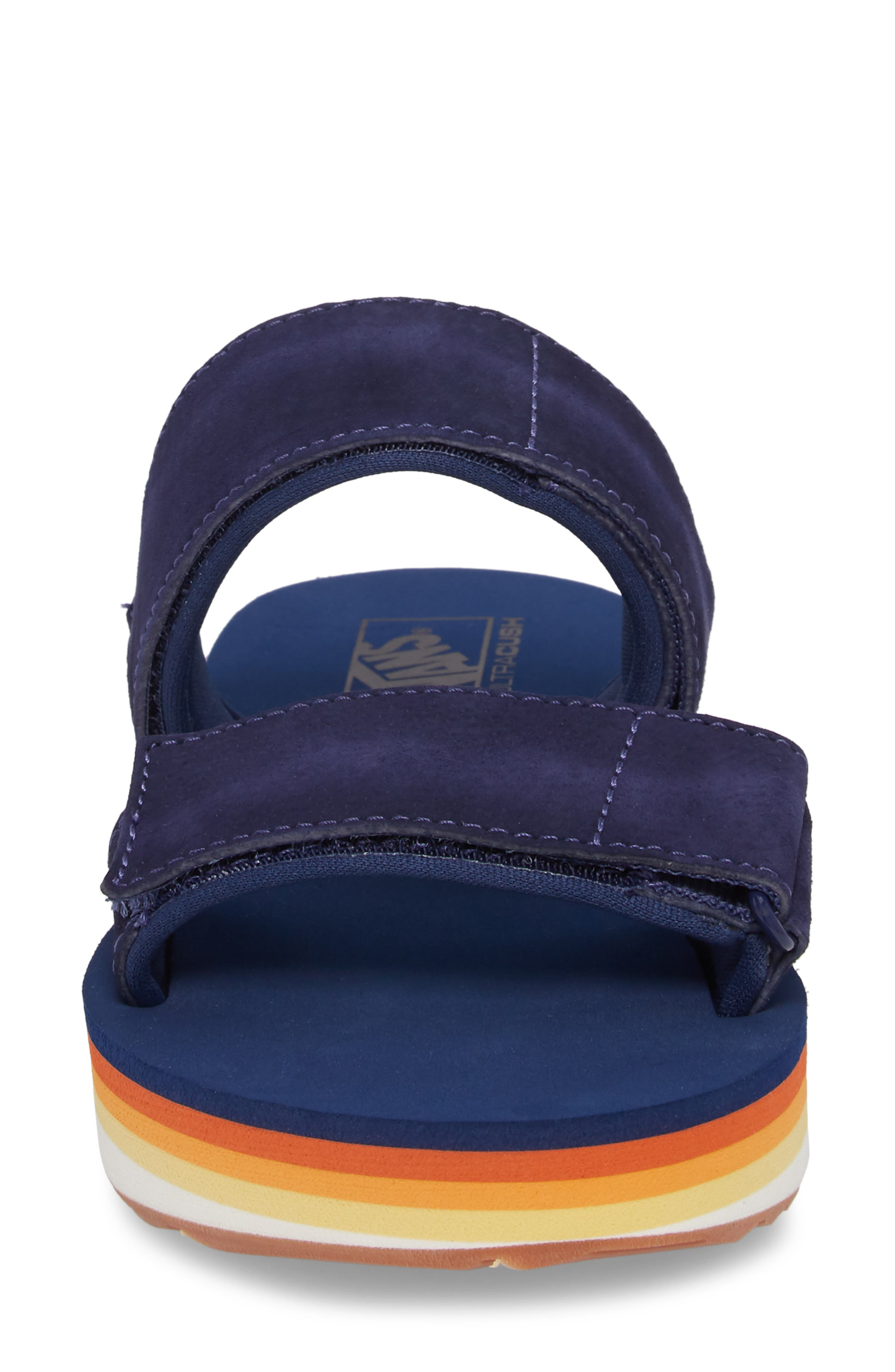 Cayucas Platform Slide Sandal,                             Alternate thumbnail 4, color,                             400