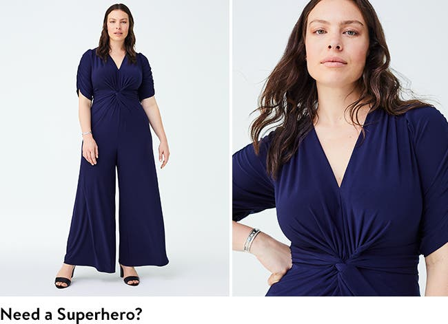 Need a superhero? Try a women's jumpsuit.
