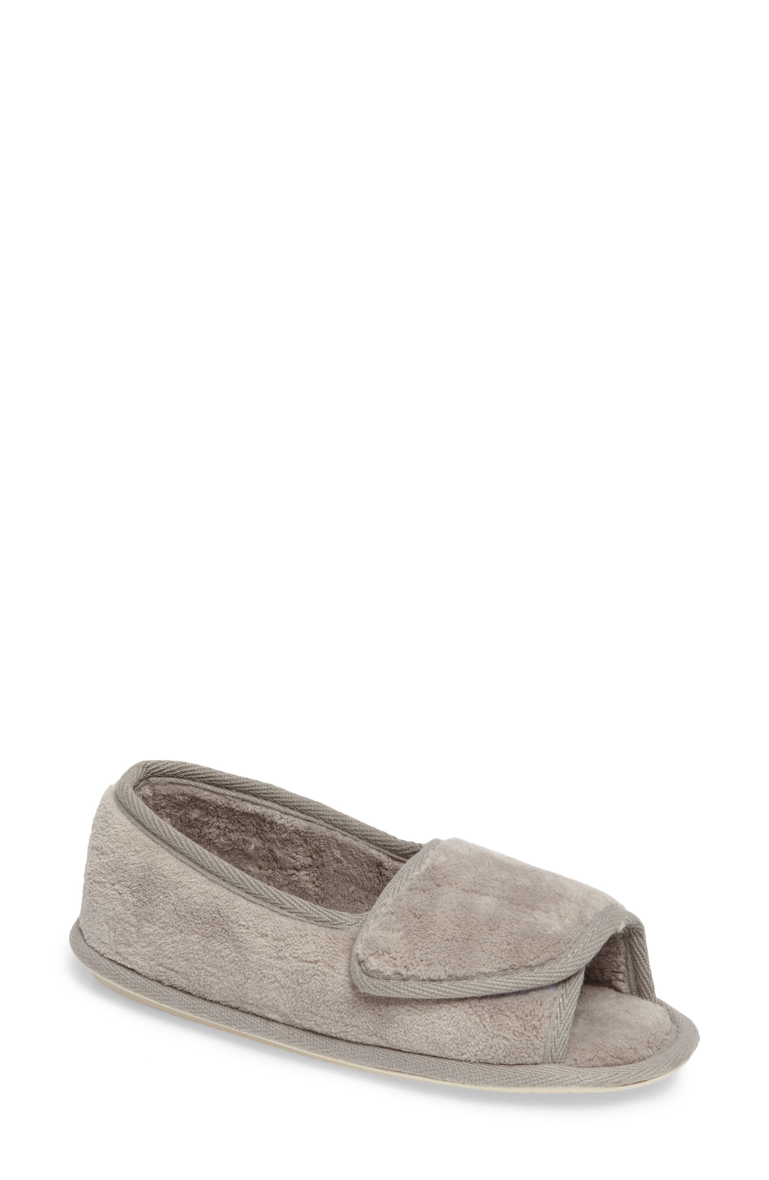 Tara II Slipper,                             Main thumbnail 1, color,                             GRAY FABRIC