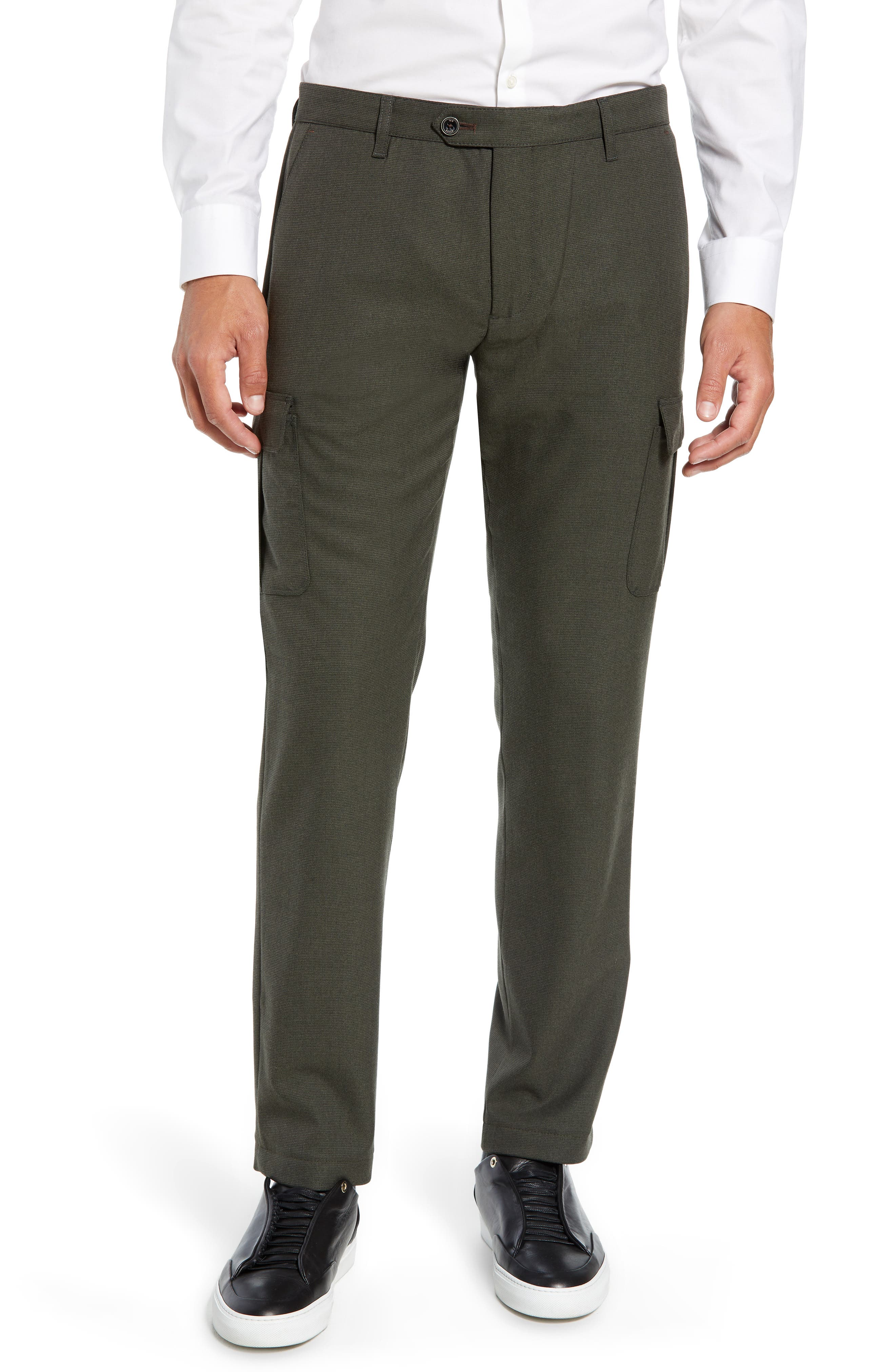 Zakery Slim Fit Utility Cargo Trousers,                         Main,                         color, KHAKI