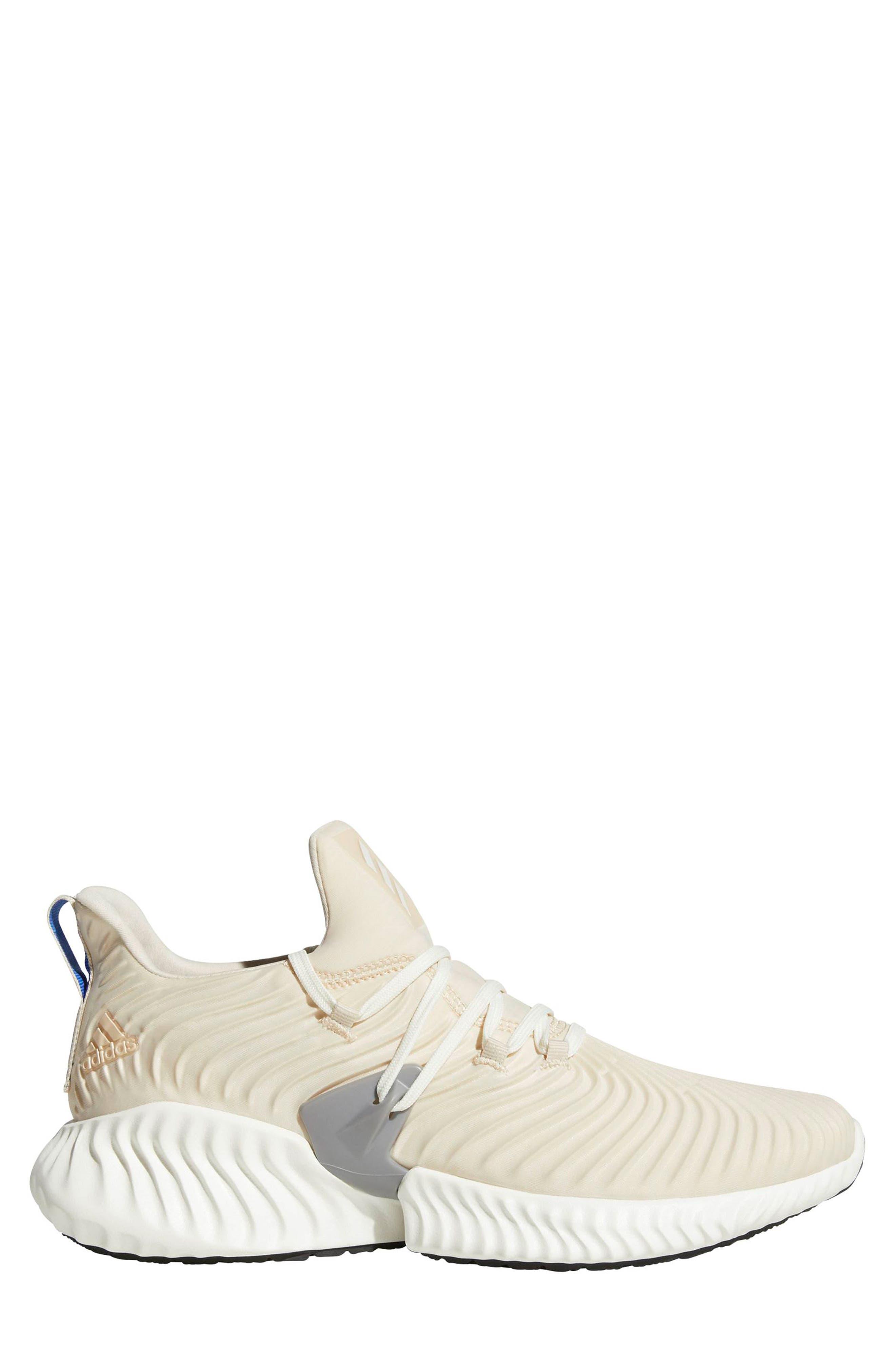 AlphaBounce Instinct Running Shoe,                         Main,                         color, LINEN / CLOUD WHITE / GREY