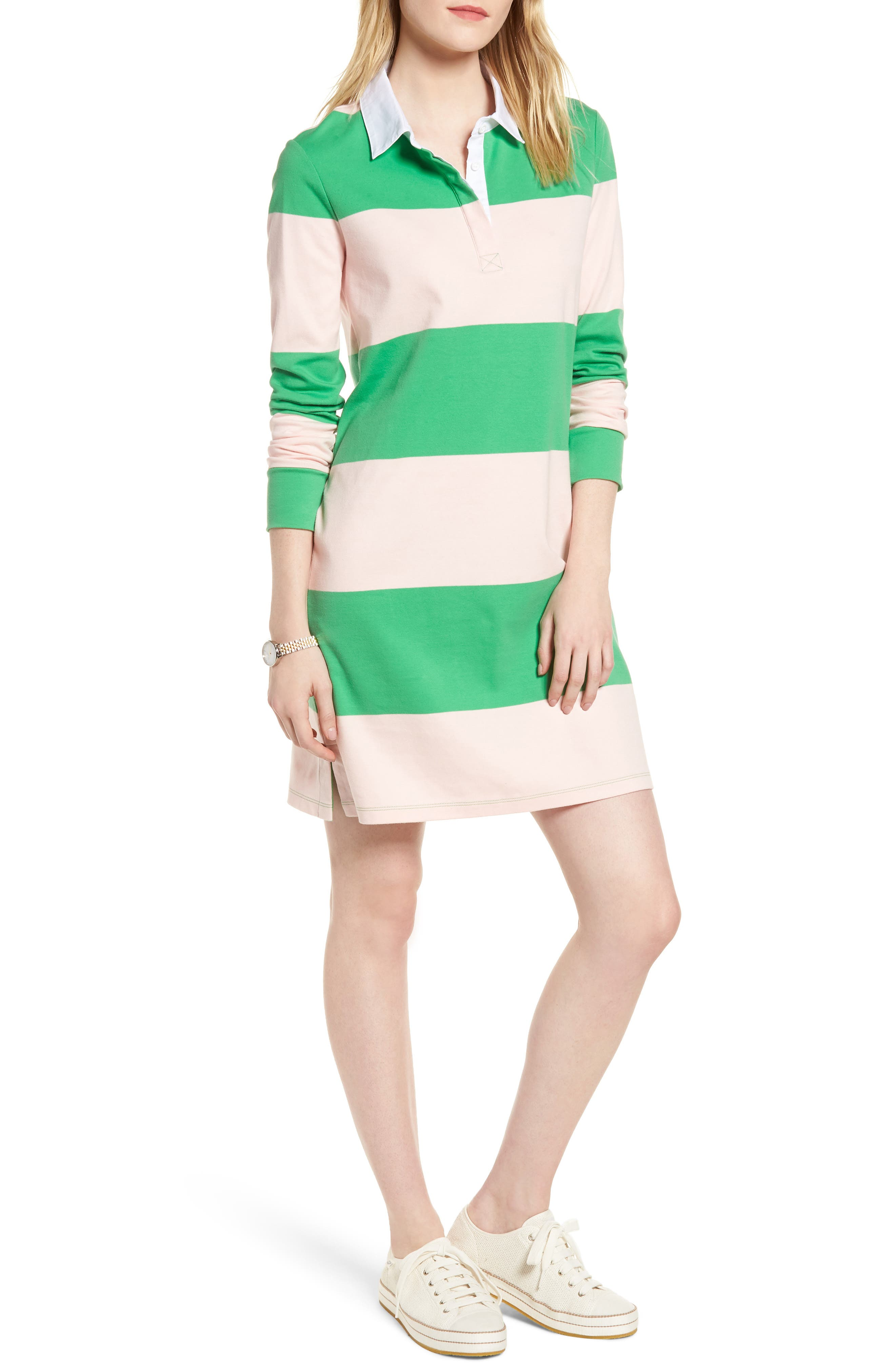 Cotton Rugby Dress,                             Main thumbnail 2, color,