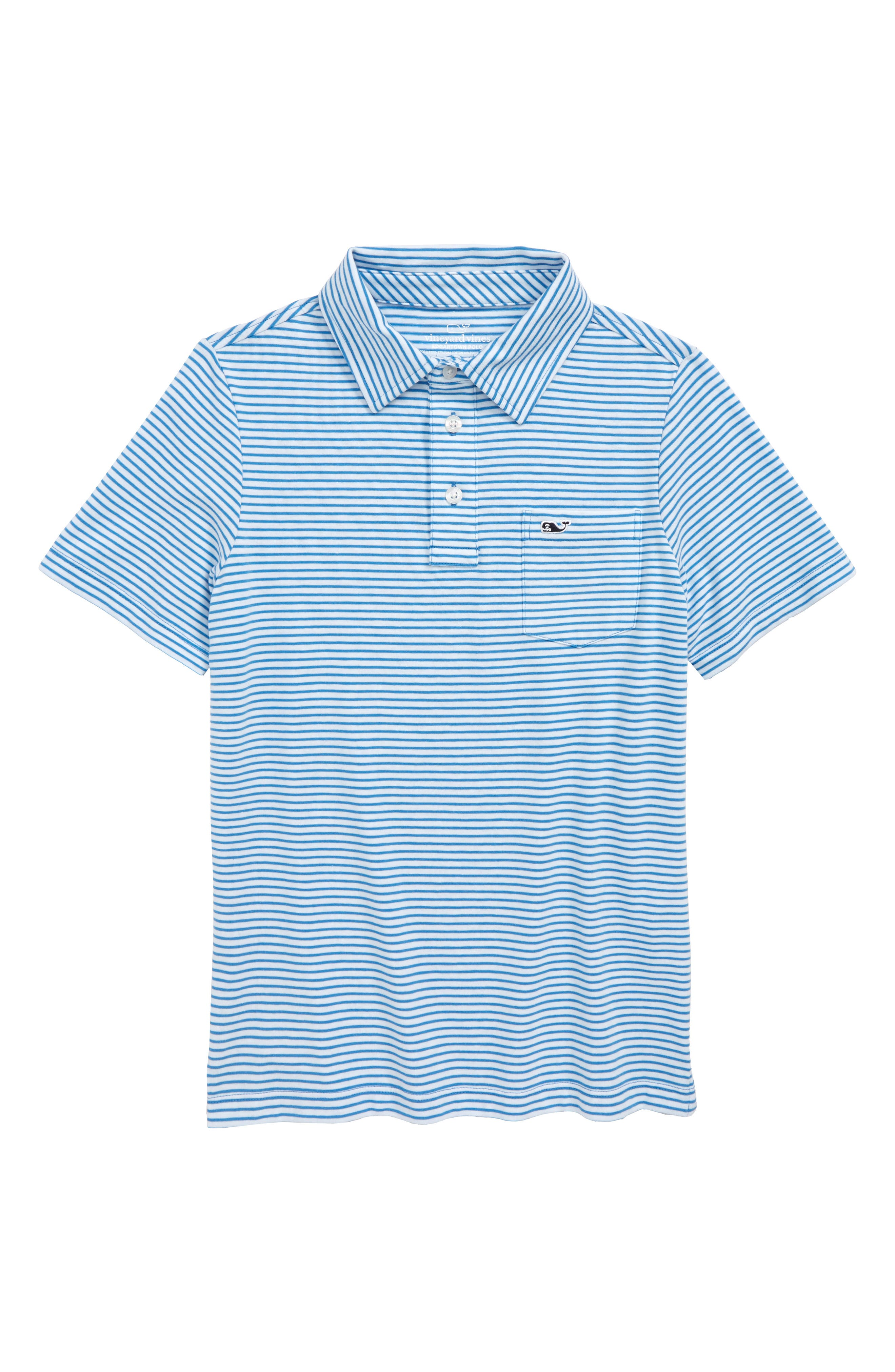 Edgartown Stripe Polo,                         Main,                         color, HULL BLUE