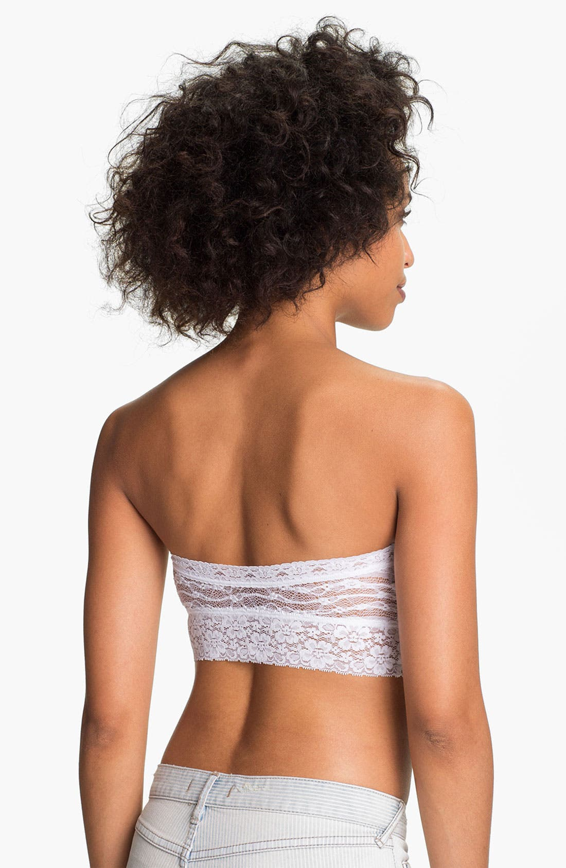 Intimately FP Lace Bandeau Bralette,                             Alternate thumbnail 7, color,                             WHITE