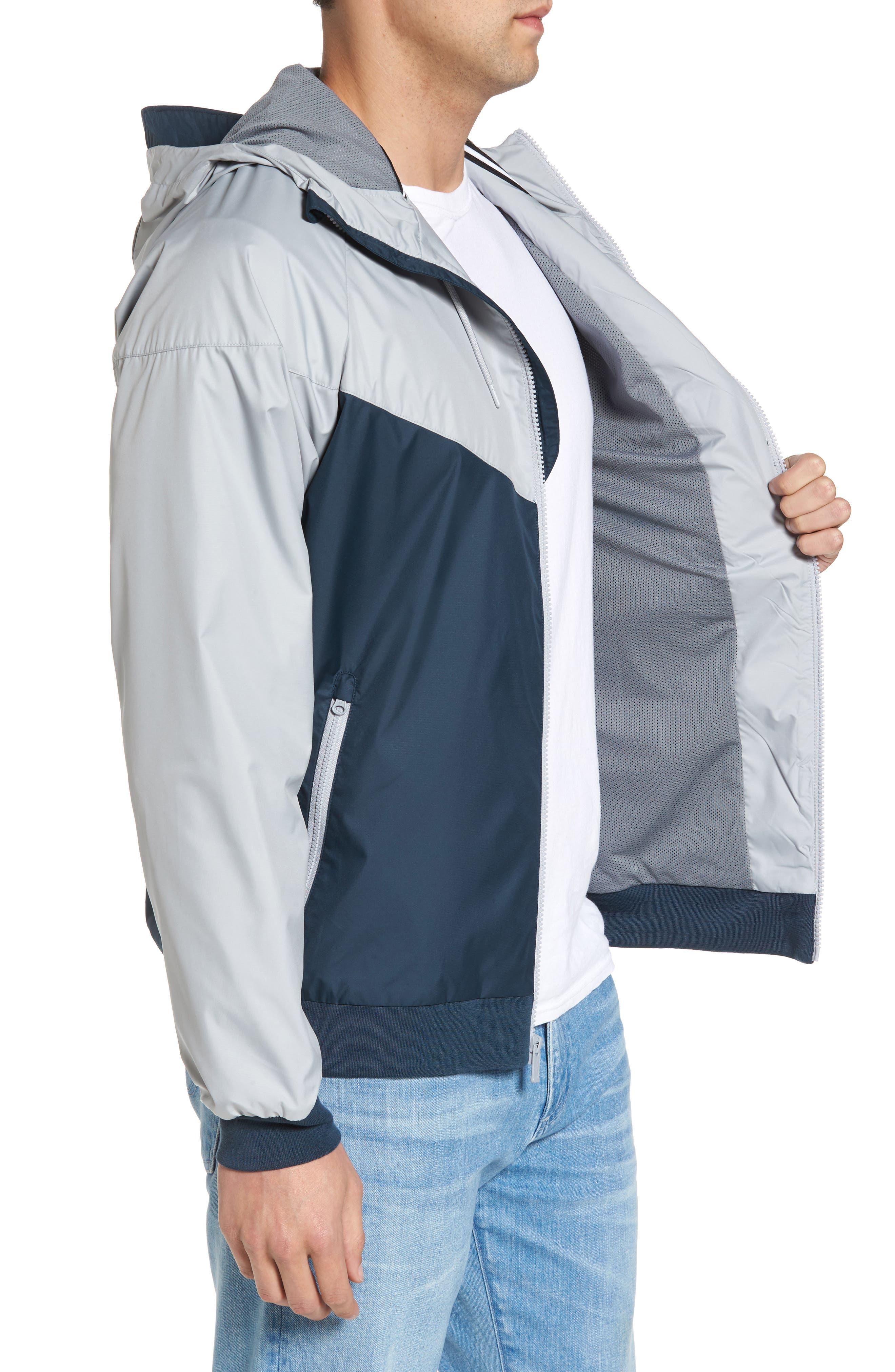'Windrunner' Colorblock Jacket,                             Alternate thumbnail 3, color,                             GREY/ BLUE