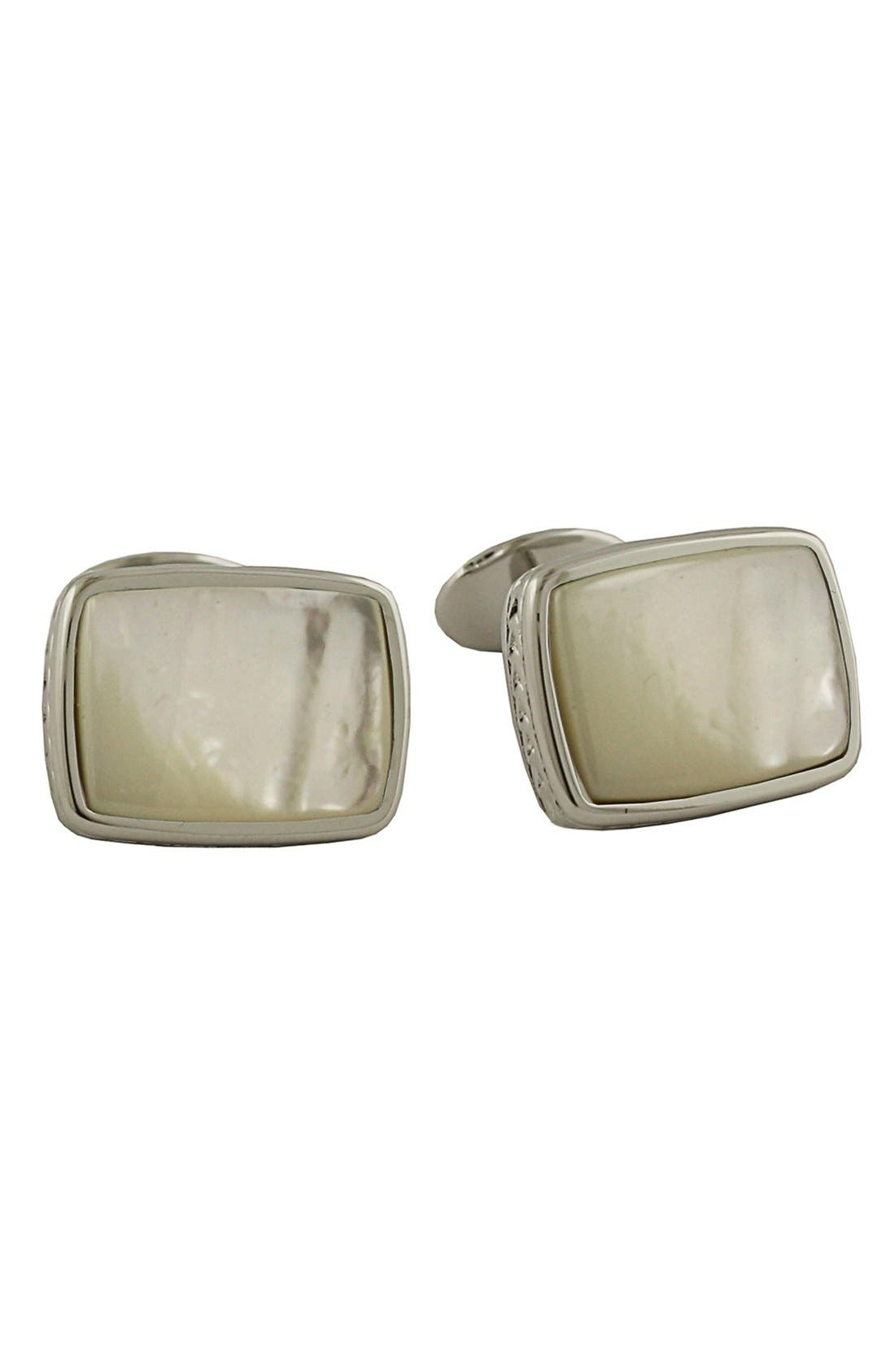 Sterling Silver Cuff Links,                             Main thumbnail 1, color,                             100