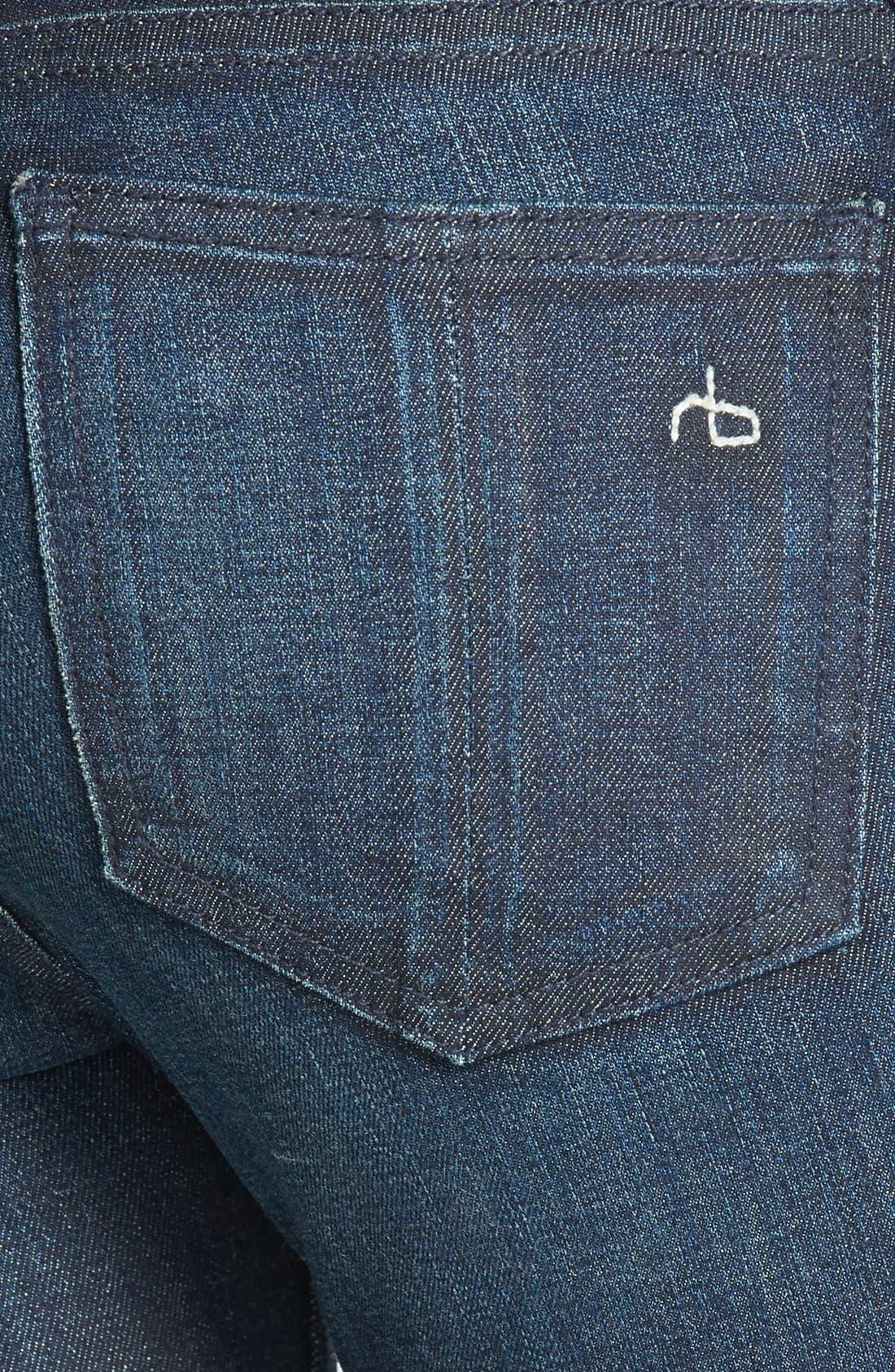 Zip Detail Skinny Jeans,                             Alternate thumbnail 5, color,                             400