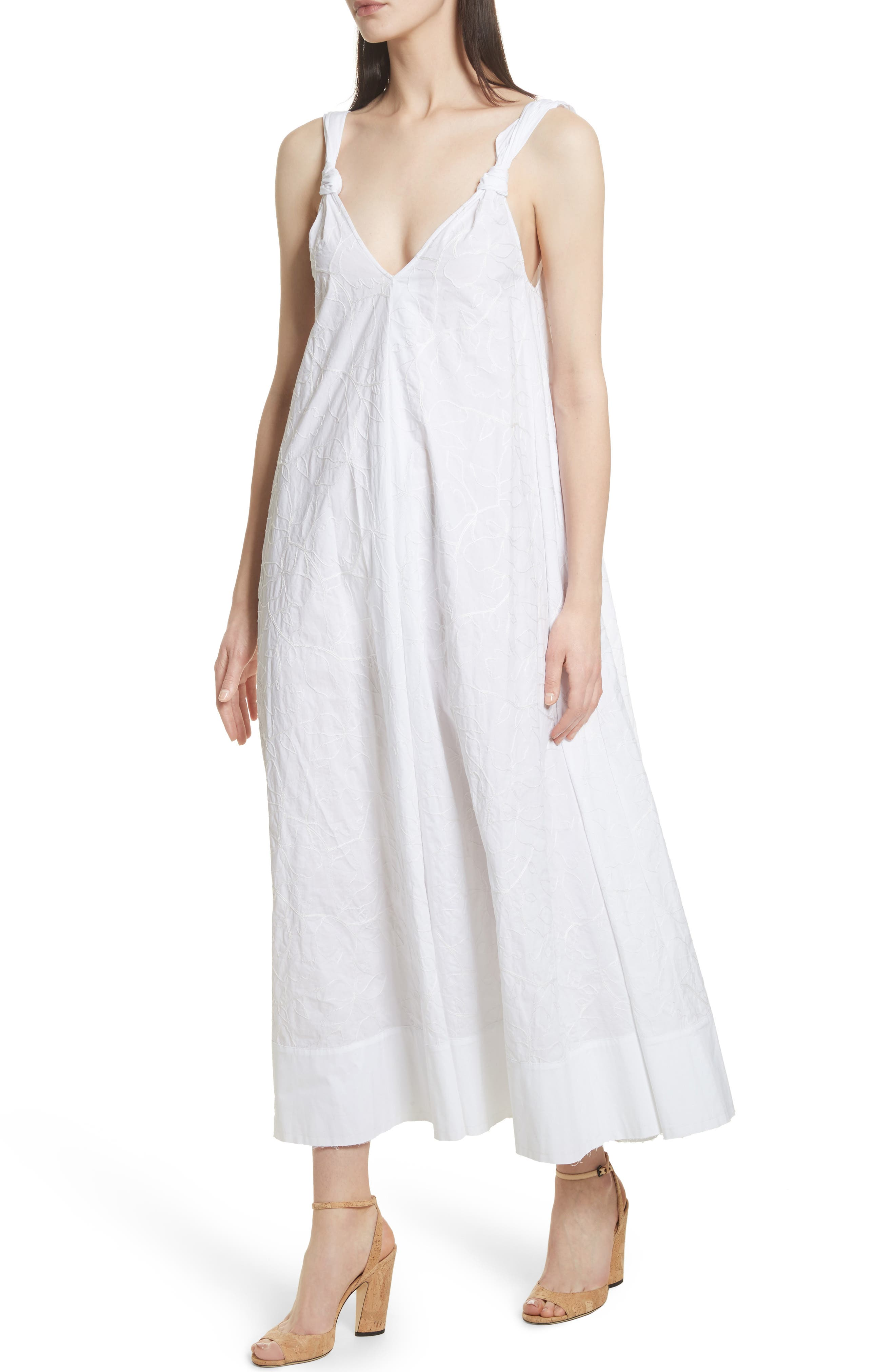 ELIZABETH AND JAMES,                             Denali Embroidered Maxi Dress,                             Alternate thumbnail 4, color,                             100