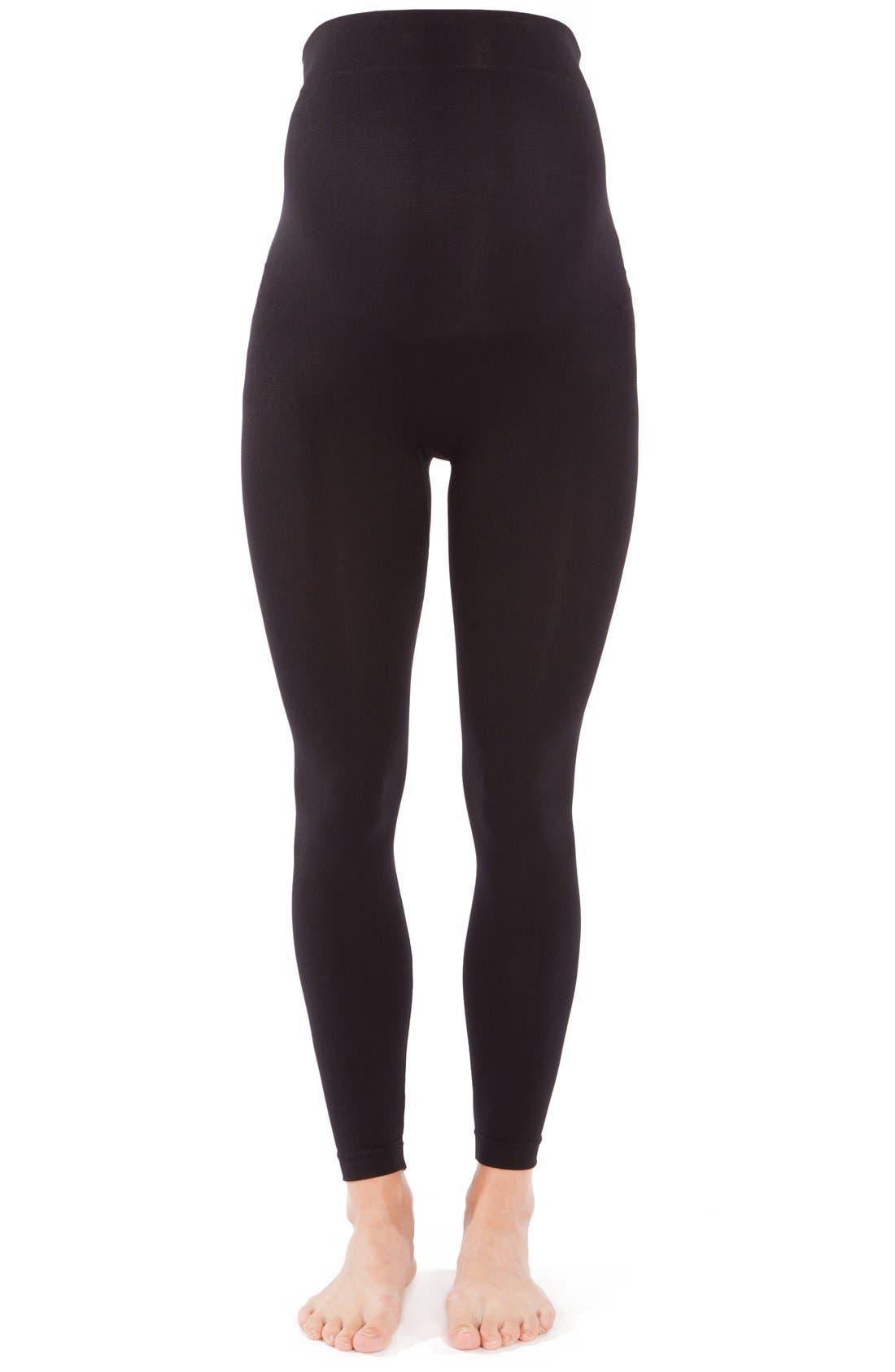 2-Pack Seamless Maternity Leggings,                         Main,                         color, BLACK